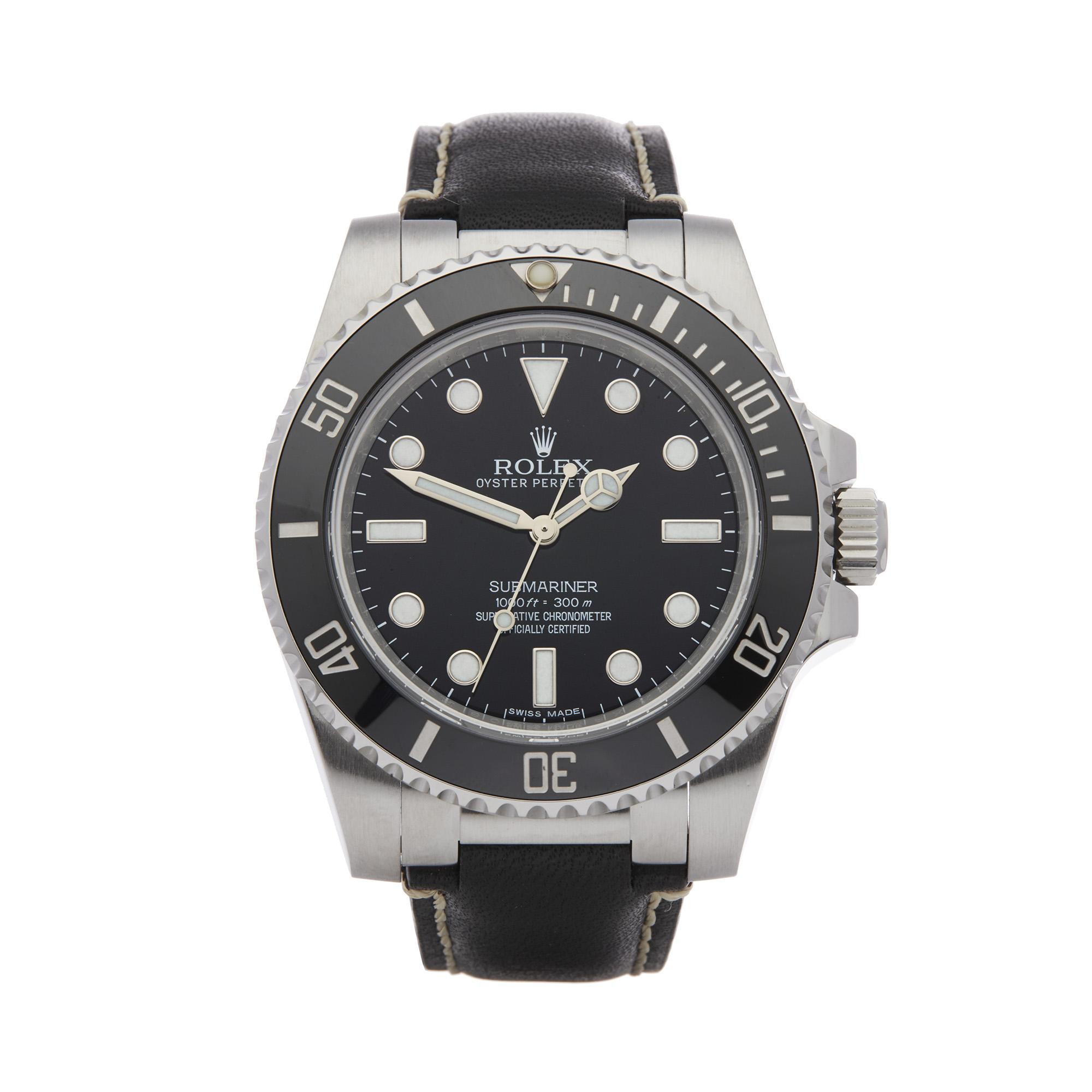 Rolex Submariner No Date 114060 Men Stainless Steel Watch - Image 8 of 8