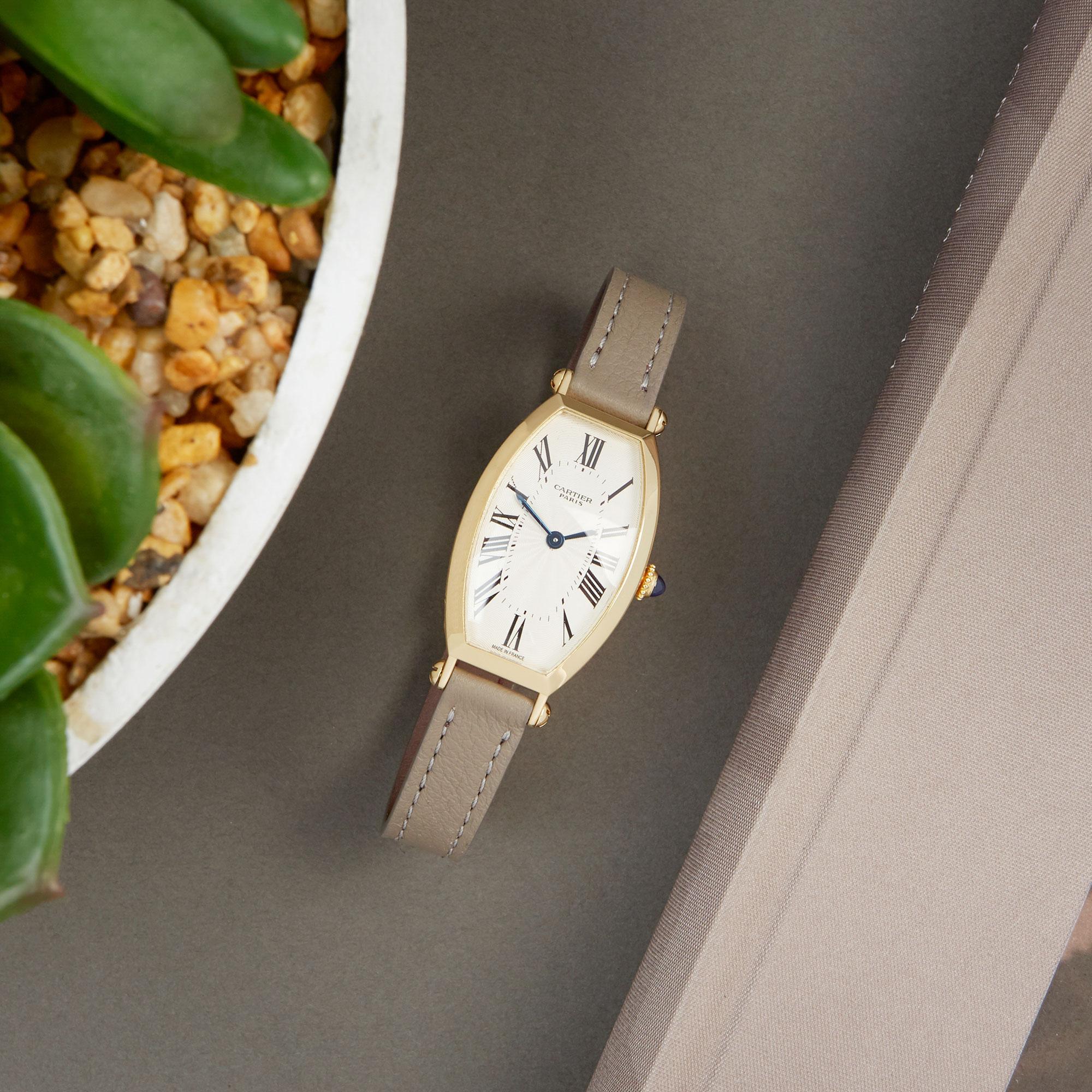 Cartier Tonneau 2451B Ladies Yellow Gold Mecanique Watch - Image 2 of 8
