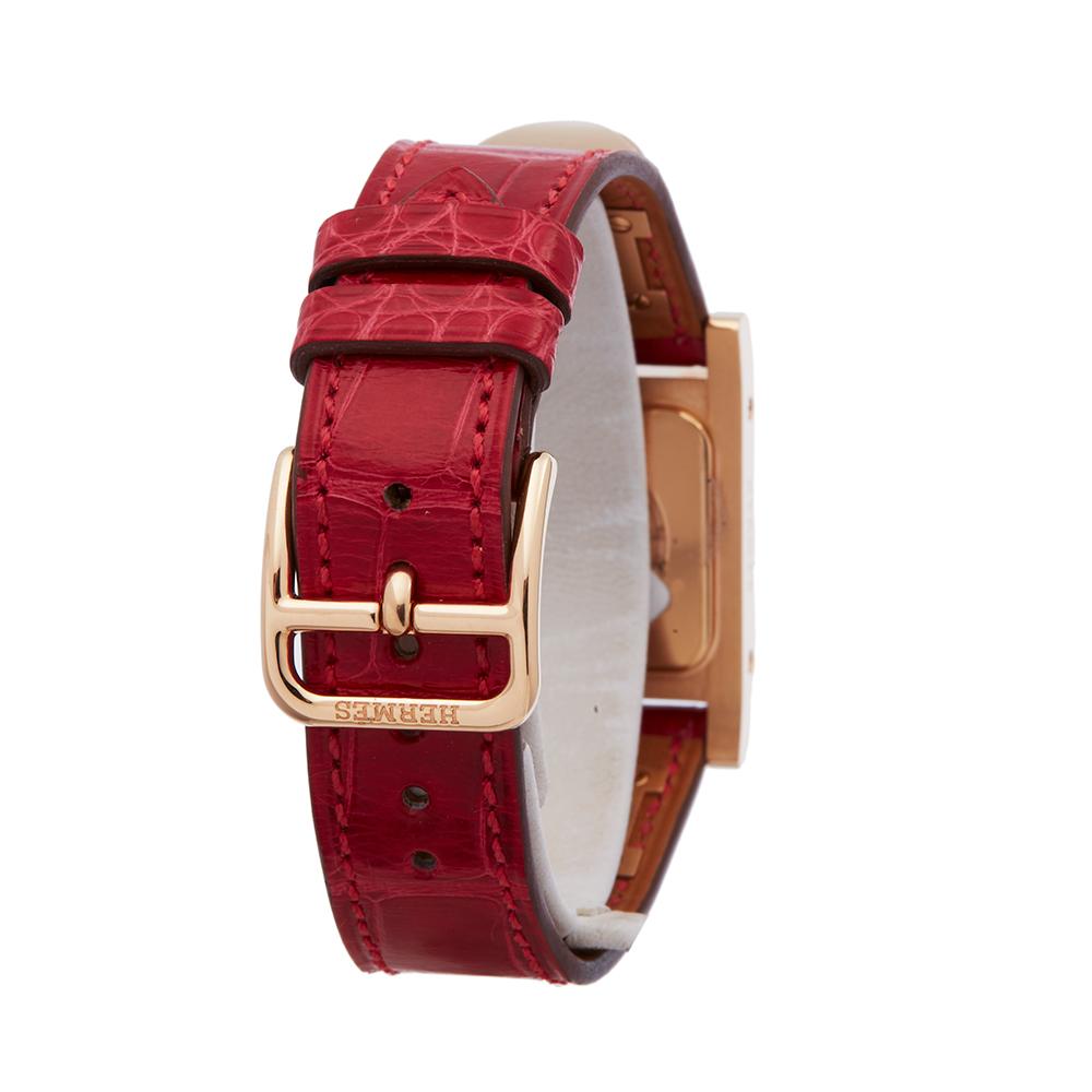 Hermes Medor W041283WW00 Ladies Rose Gold Diamond Watch - Image 4 of 8