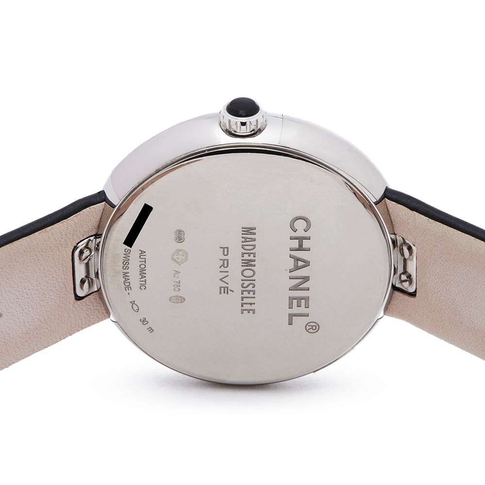 Chanel Mademoiselle H3093 Ladies White Gold Prive Diamond Watch - Image 4 of 8