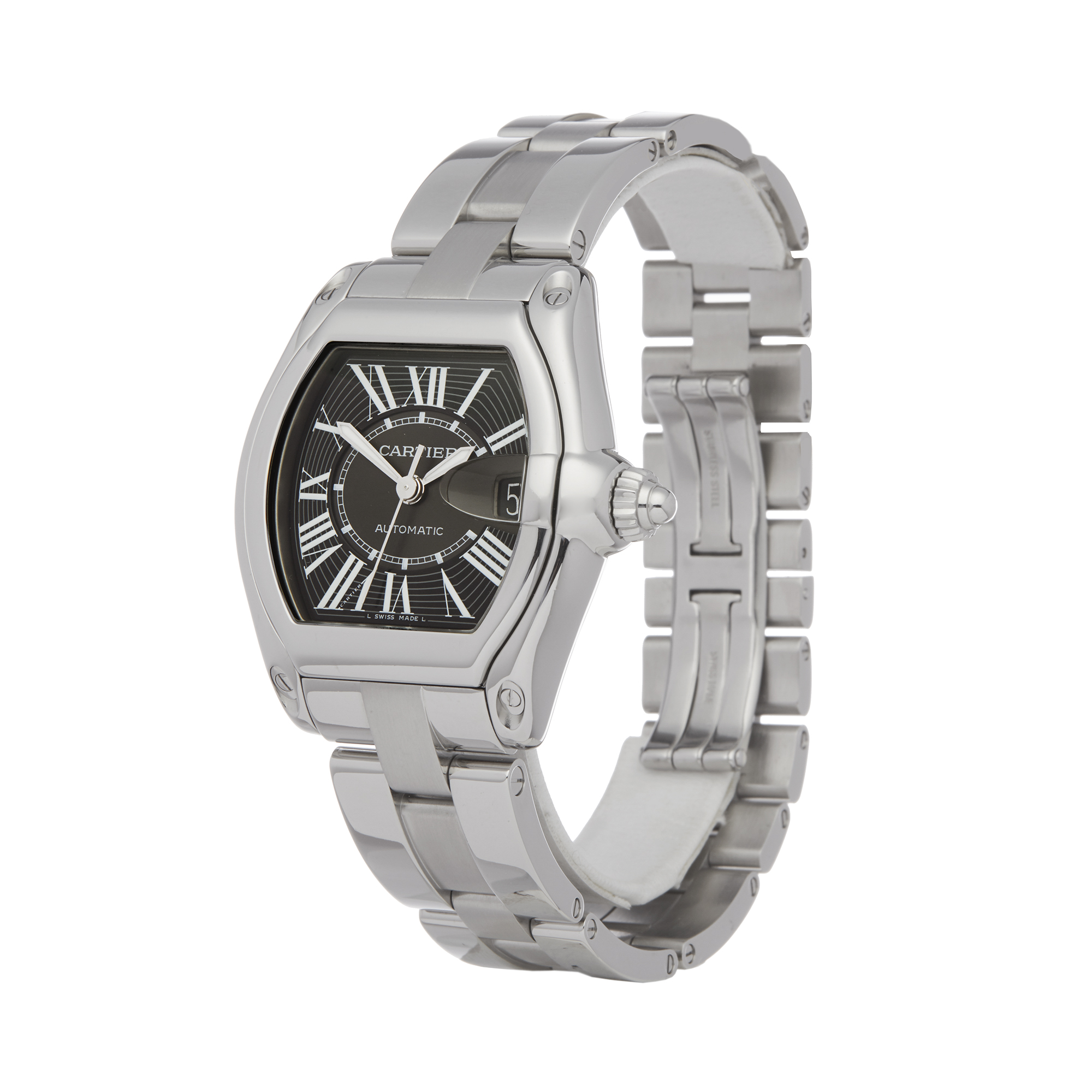 Cartier Roadster 2510 Men Stainless Steel Watch