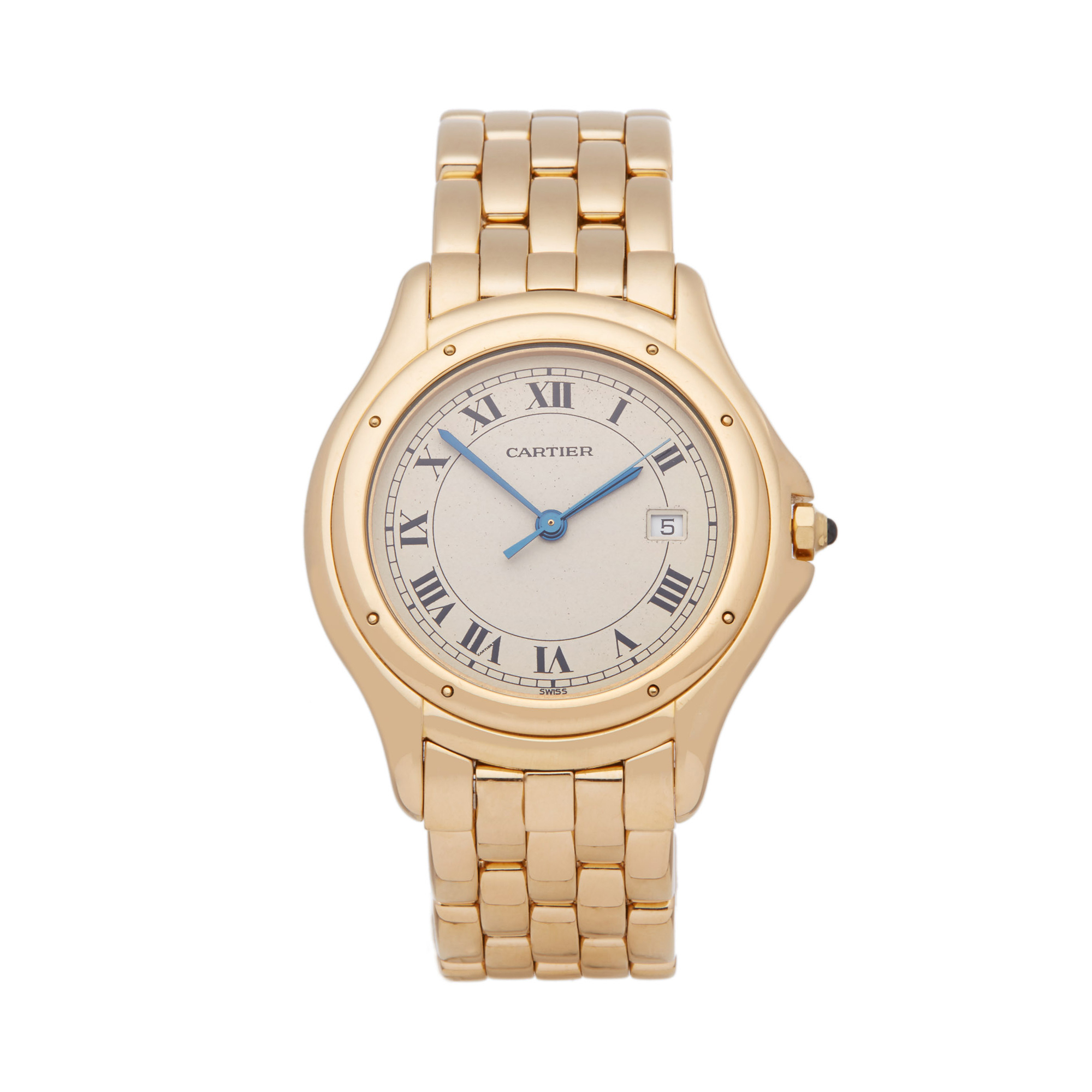 Cartier Panthère Cougar 116000R Unisex Yellow Gold Watch - Image 8 of 8