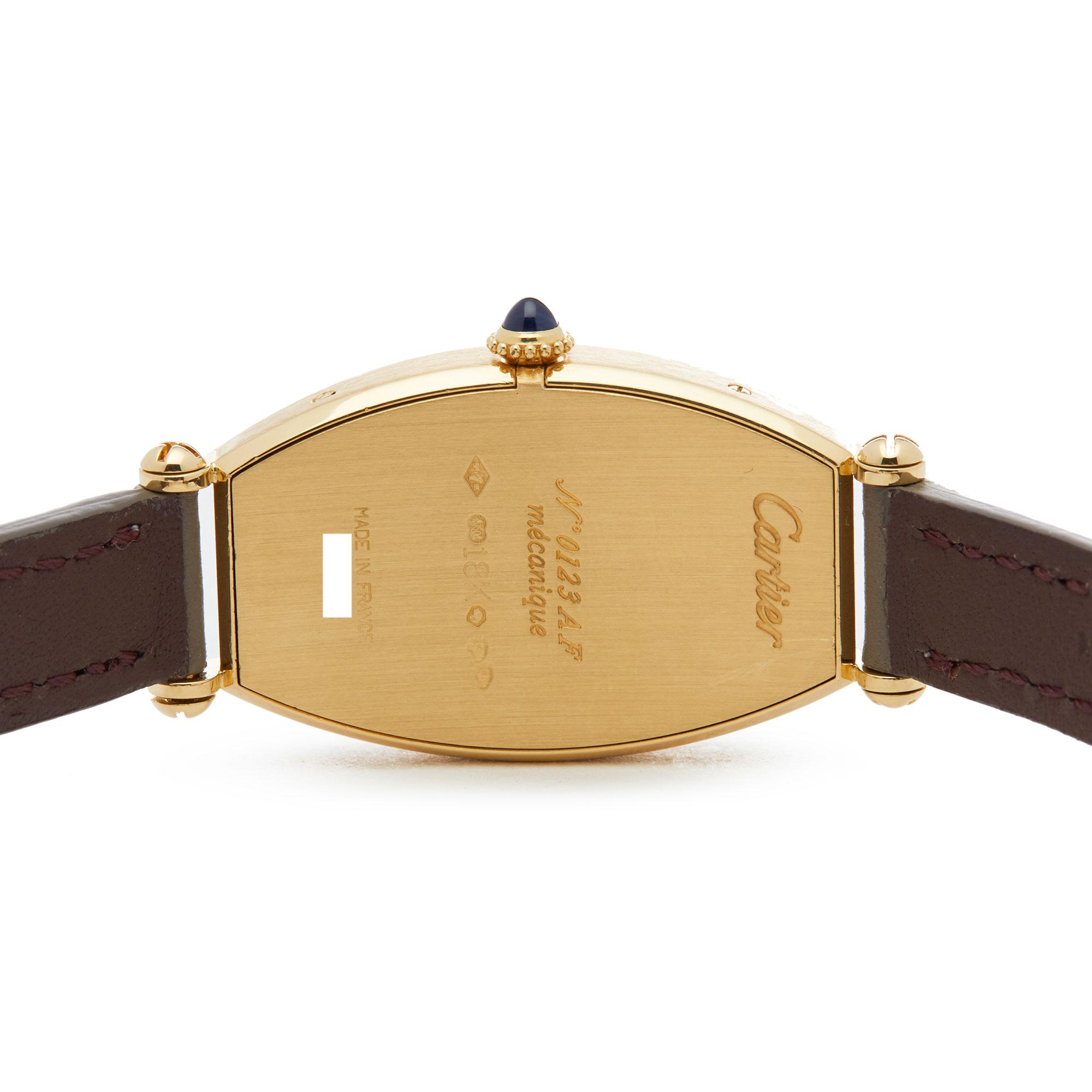 Cartier Tonneau 2451B Ladies Yellow Gold Mecanique Watch - Image 4 of 8