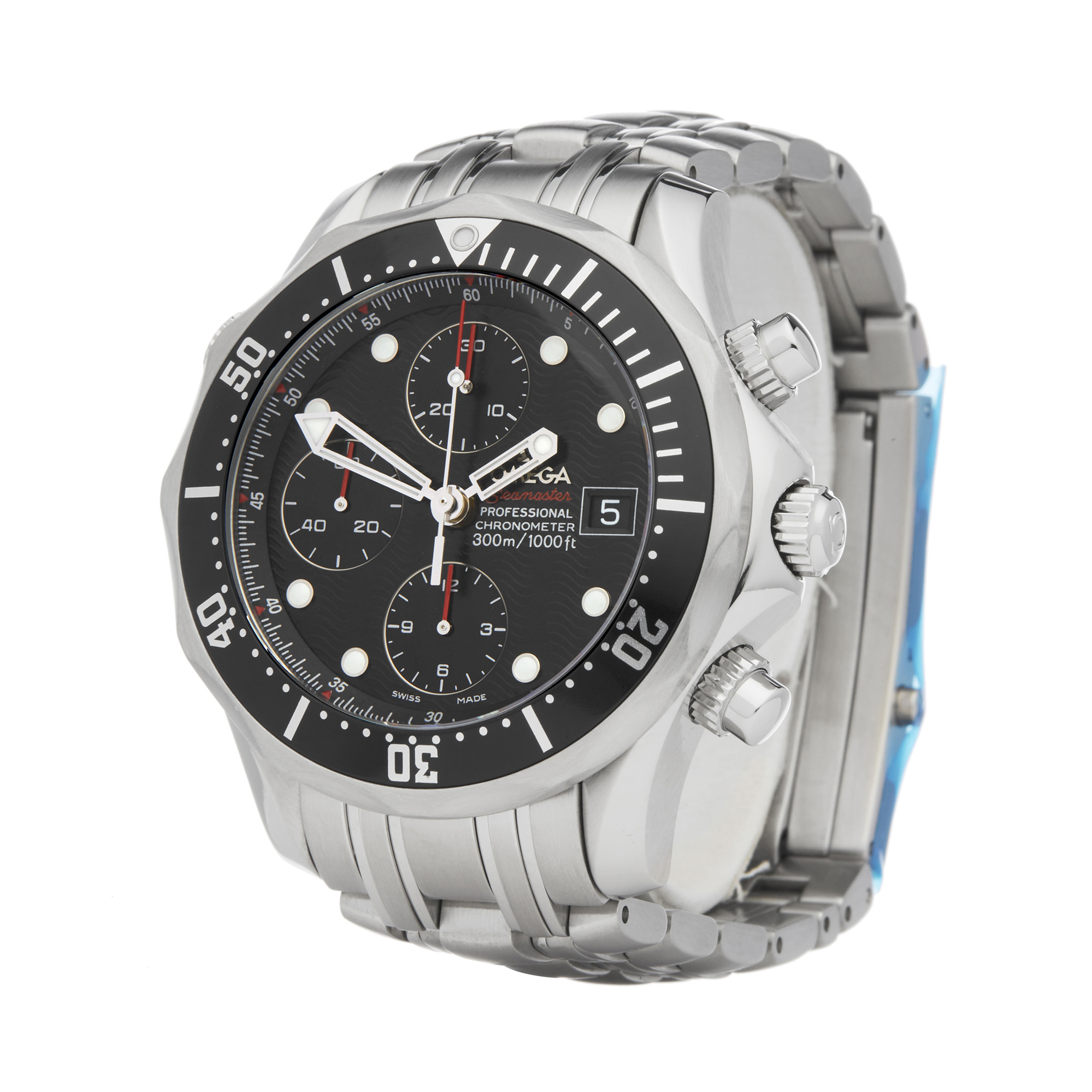 Omega Seamaster 0 213.30.42.40.01.001 Men Stainless Steel Chronograph Watch