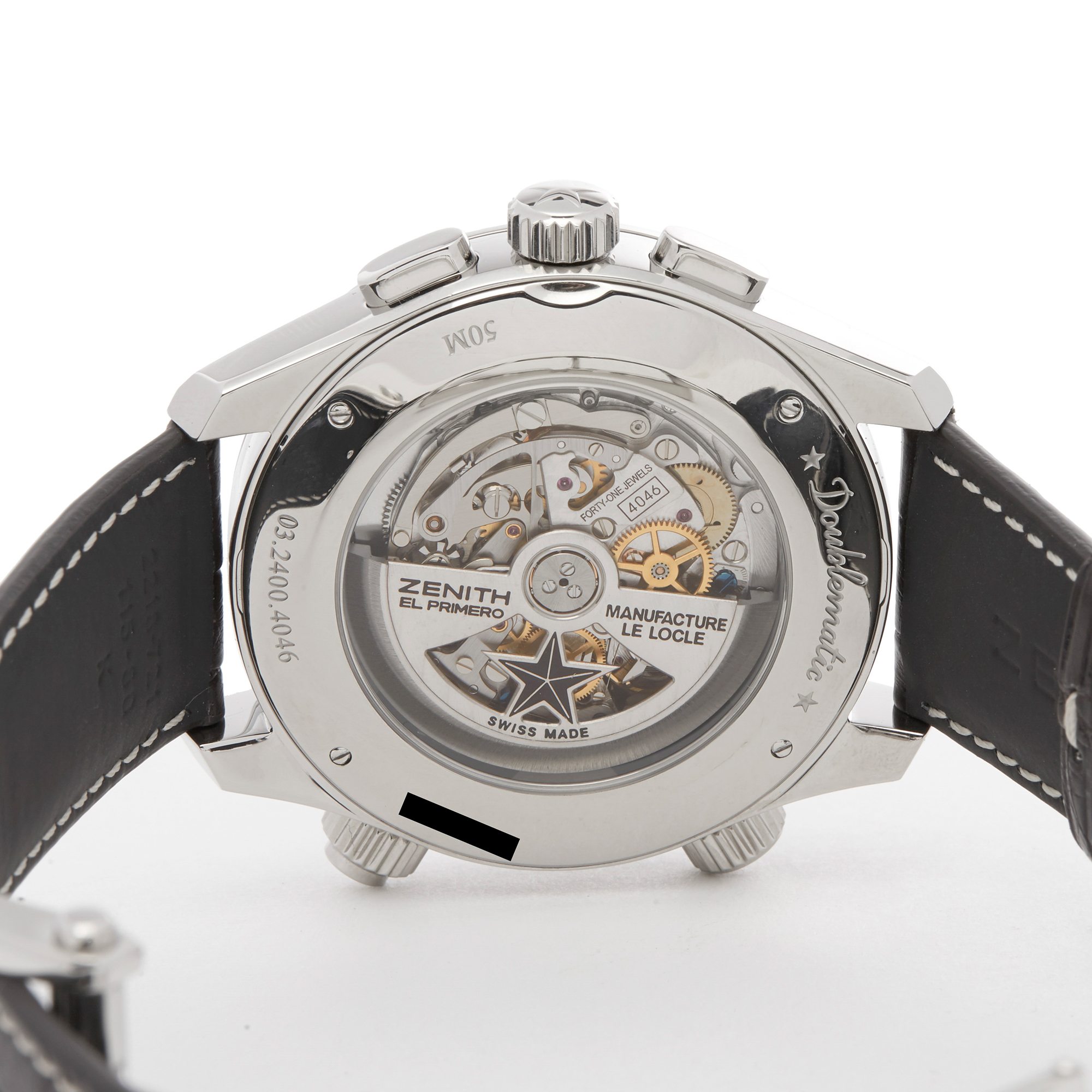 Zenith Doublematic 0 03.2400.4046/21.C721 Men Stainless Steel Chronograph Watch - Image 3 of 7