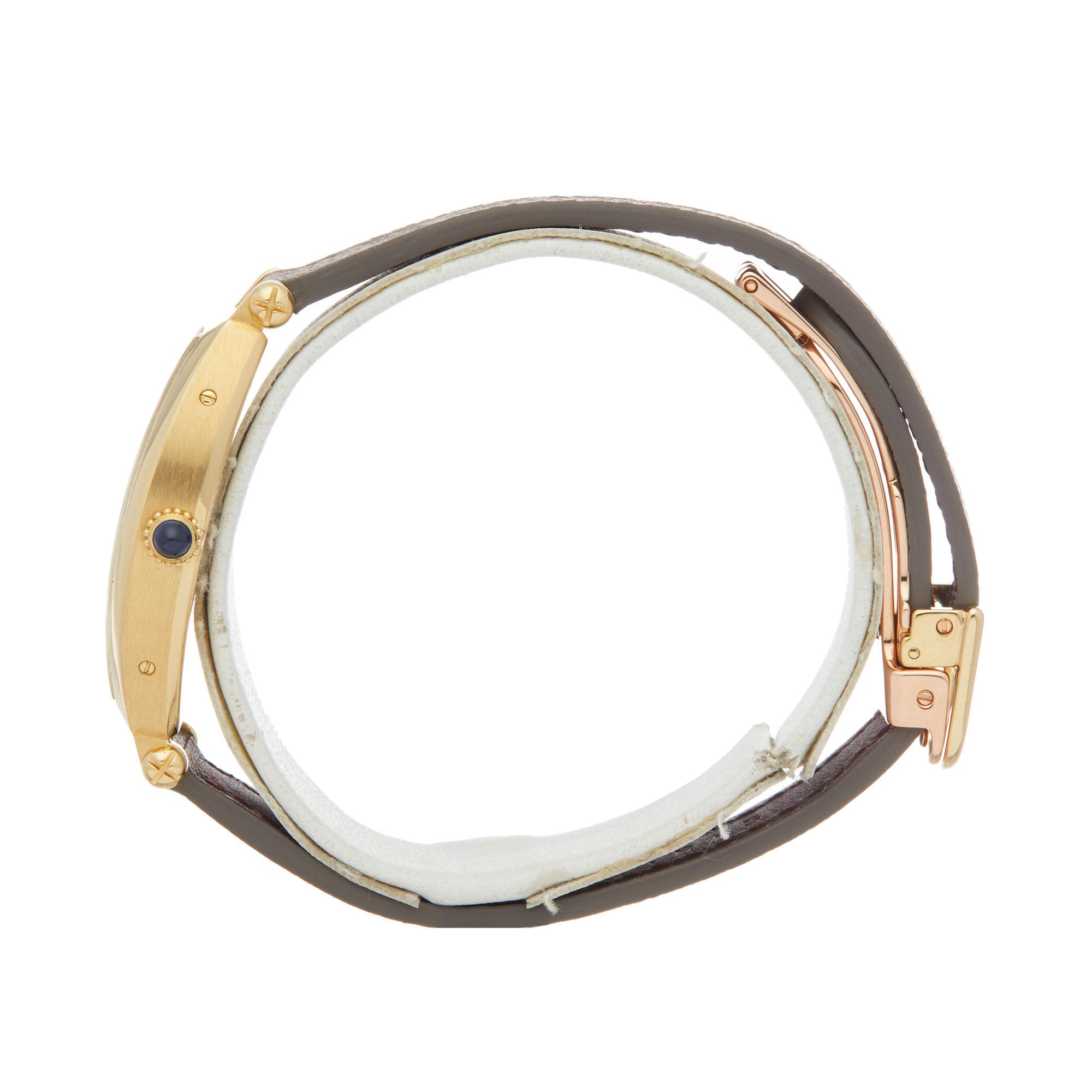 Cartier Tonneau 2451B Ladies Yellow Gold Mecanique Watch - Image 7 of 8