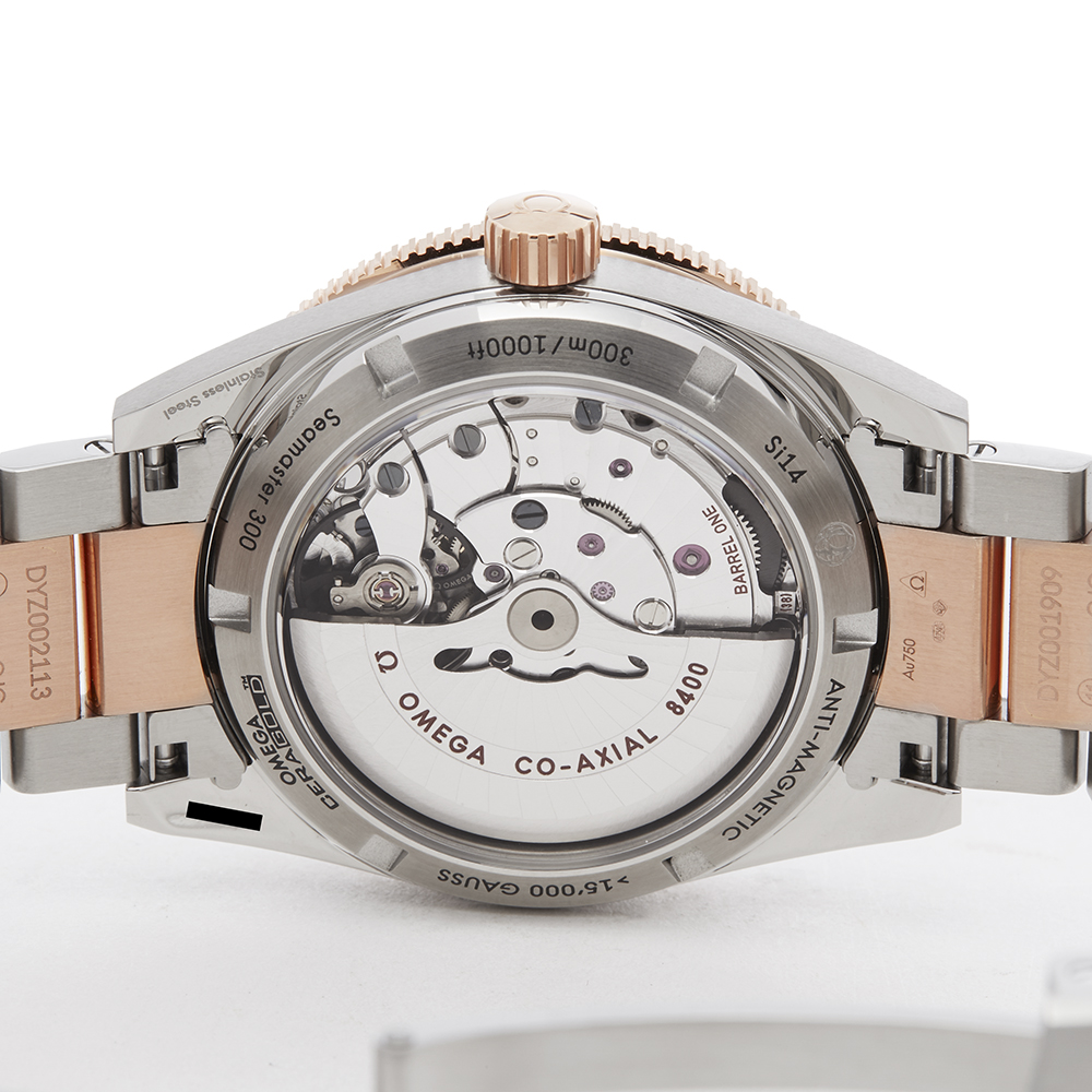 Omega Seamaster 233.20.41.21.01.001 Men Stainless Steel & Rose Gold 300M Master Co-Axial Watch - Image 4 of 8