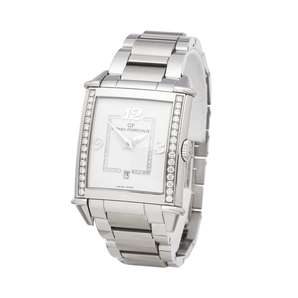 Girard Perregaux Vintage 1945 25860D11A1A111A Ladies Stainless Steel Diamond Watch