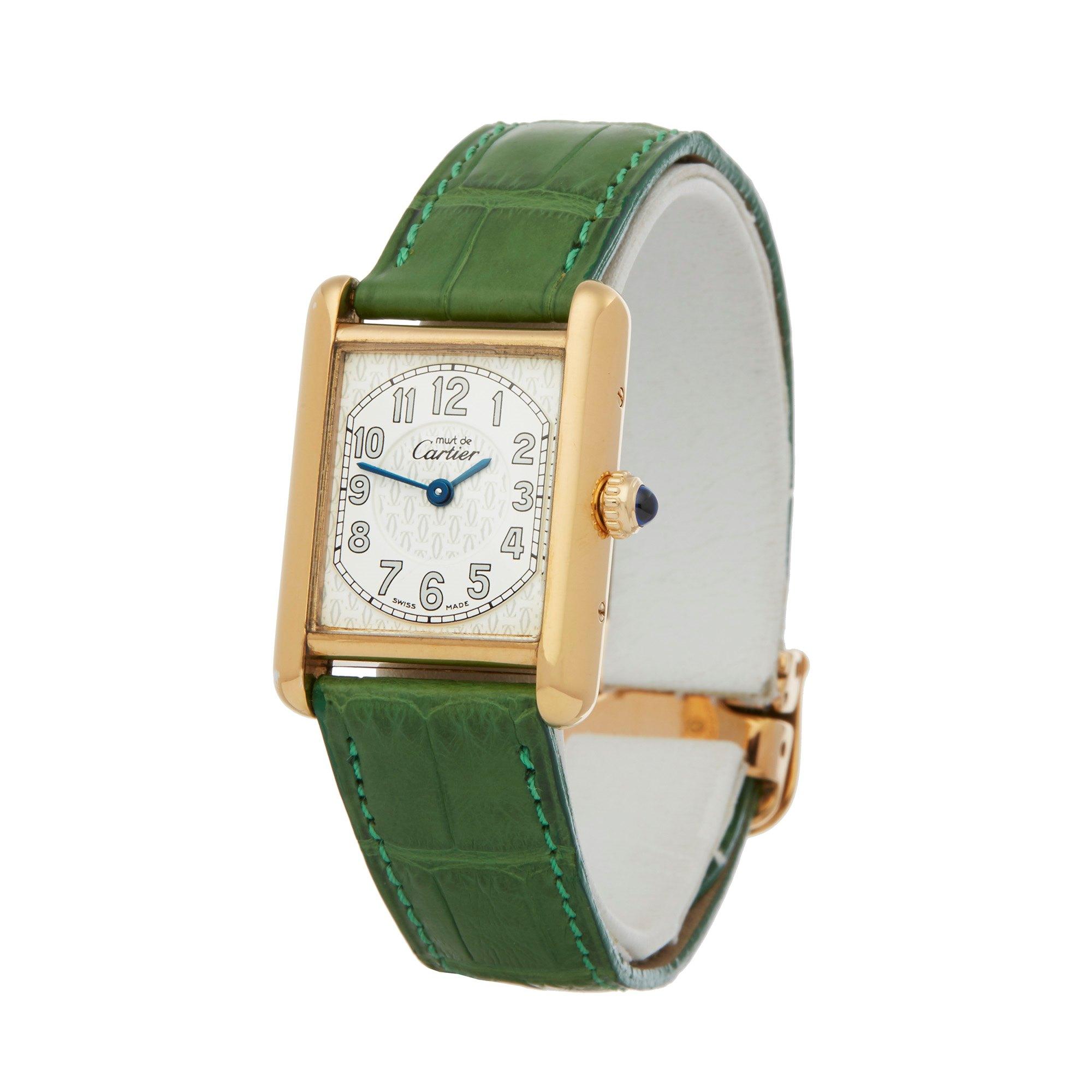 Cartier Must de Cartier 2415 Men Gold Plated Watch