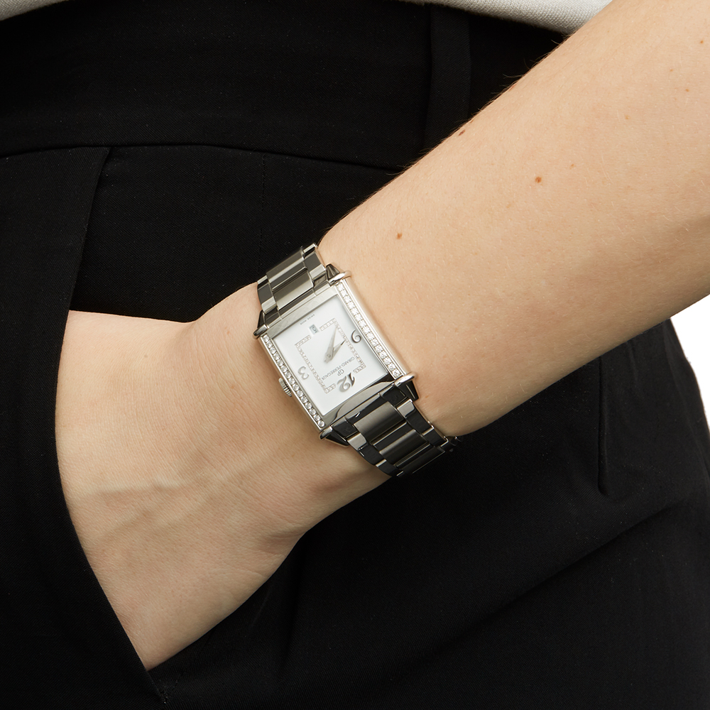 Girard Perregaux Vintage 1945 25860D11A1A111A Ladies Stainless Steel Diamond Watch - Image 2 of 8