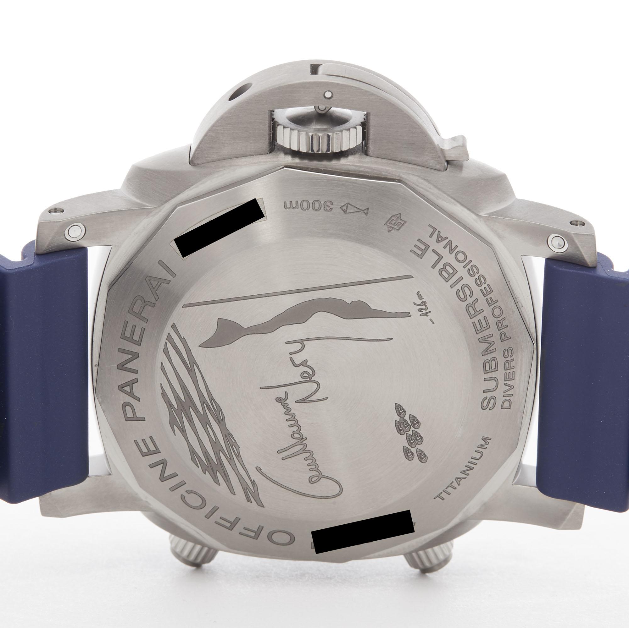 Panerai Luminor Submersible PAM00982 Men Stainless Steel Chronograph Watch - Image 4 of 8