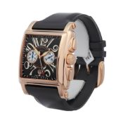 Franck Muller Conquistador Cortez 10000 H CC Men Rose Gold Chronograph Watch
