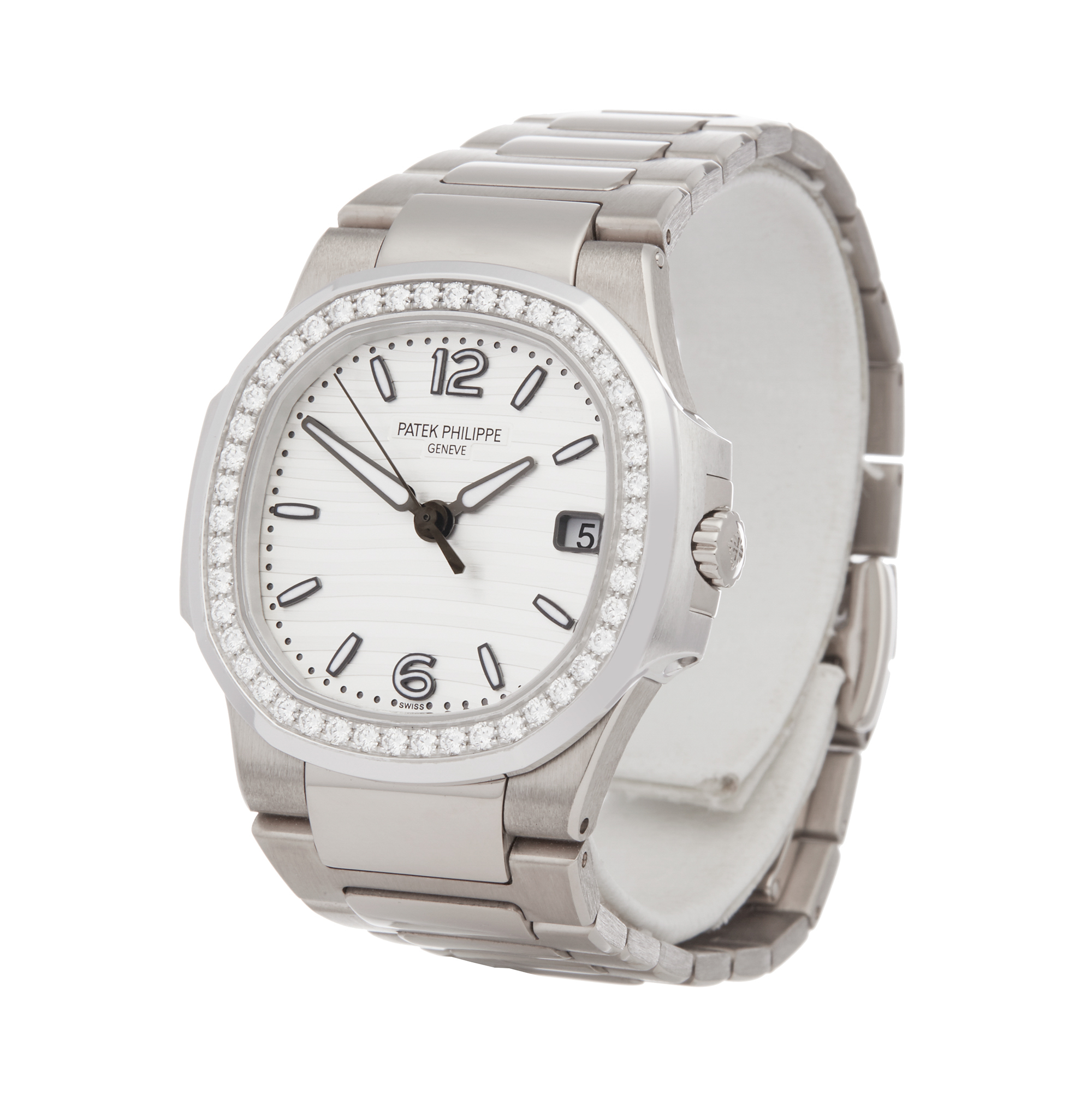 Patek Philippe Nautilus 7010G Ladies White Gold Diamond Watch
