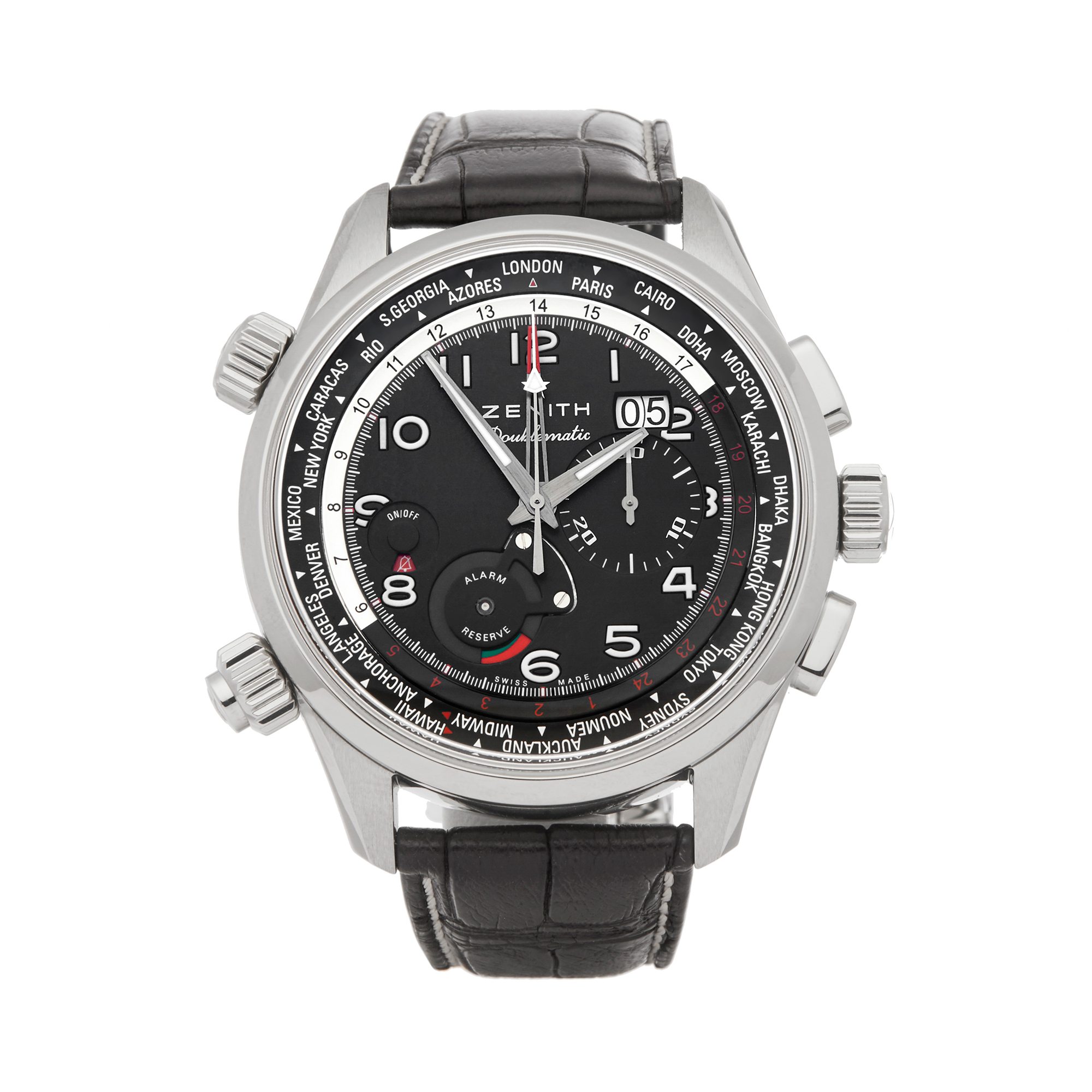 Zenith Doublematic 0 03.2400.4046/21.C721 Men Stainless Steel Chronograph Watch - Image 7 of 7