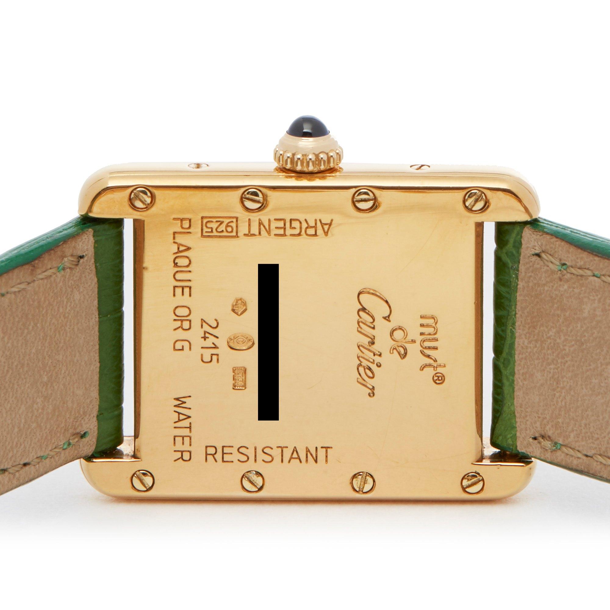 Cartier Must de Cartier 2415 Men Gold Plated Watch - Image 6 of 6