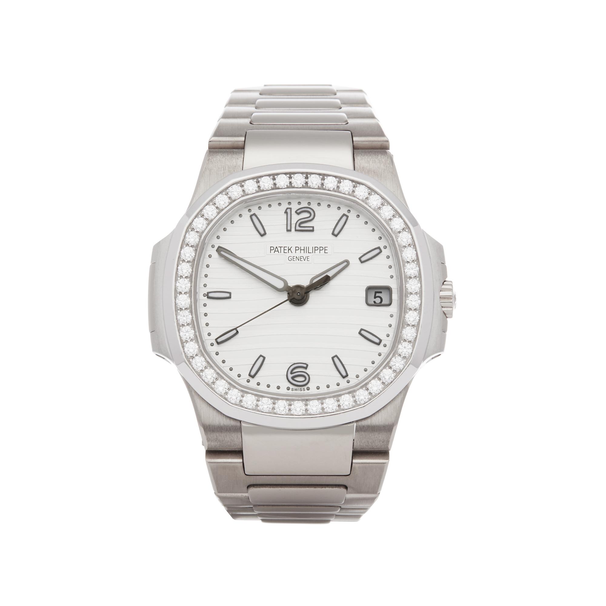Patek Philippe Nautilus 7010G Ladies White Gold Diamond Watch - Image 8 of 8