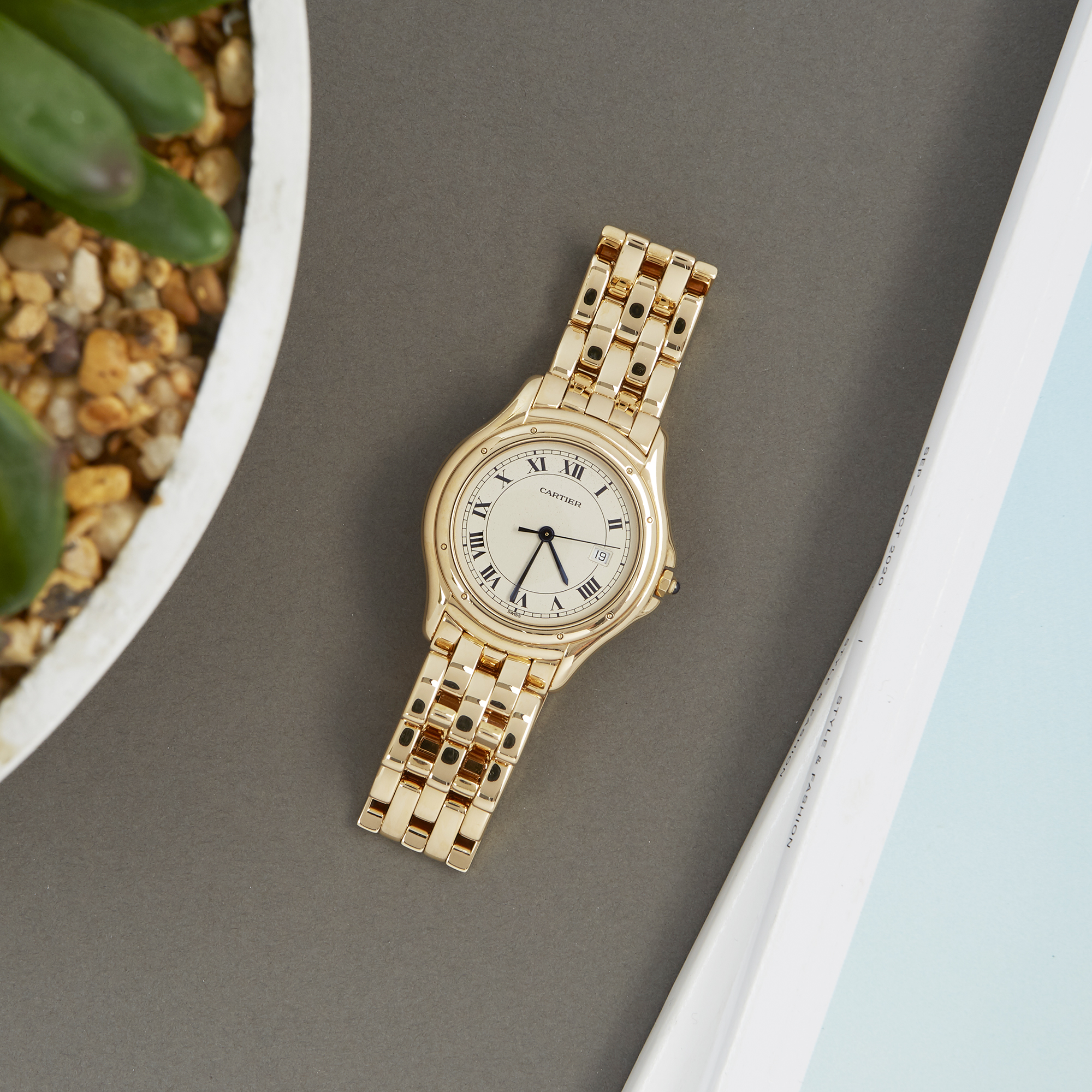 Cartier Panthère Cougar 116000R Unisex Yellow Gold Watch - Image 2 of 8
