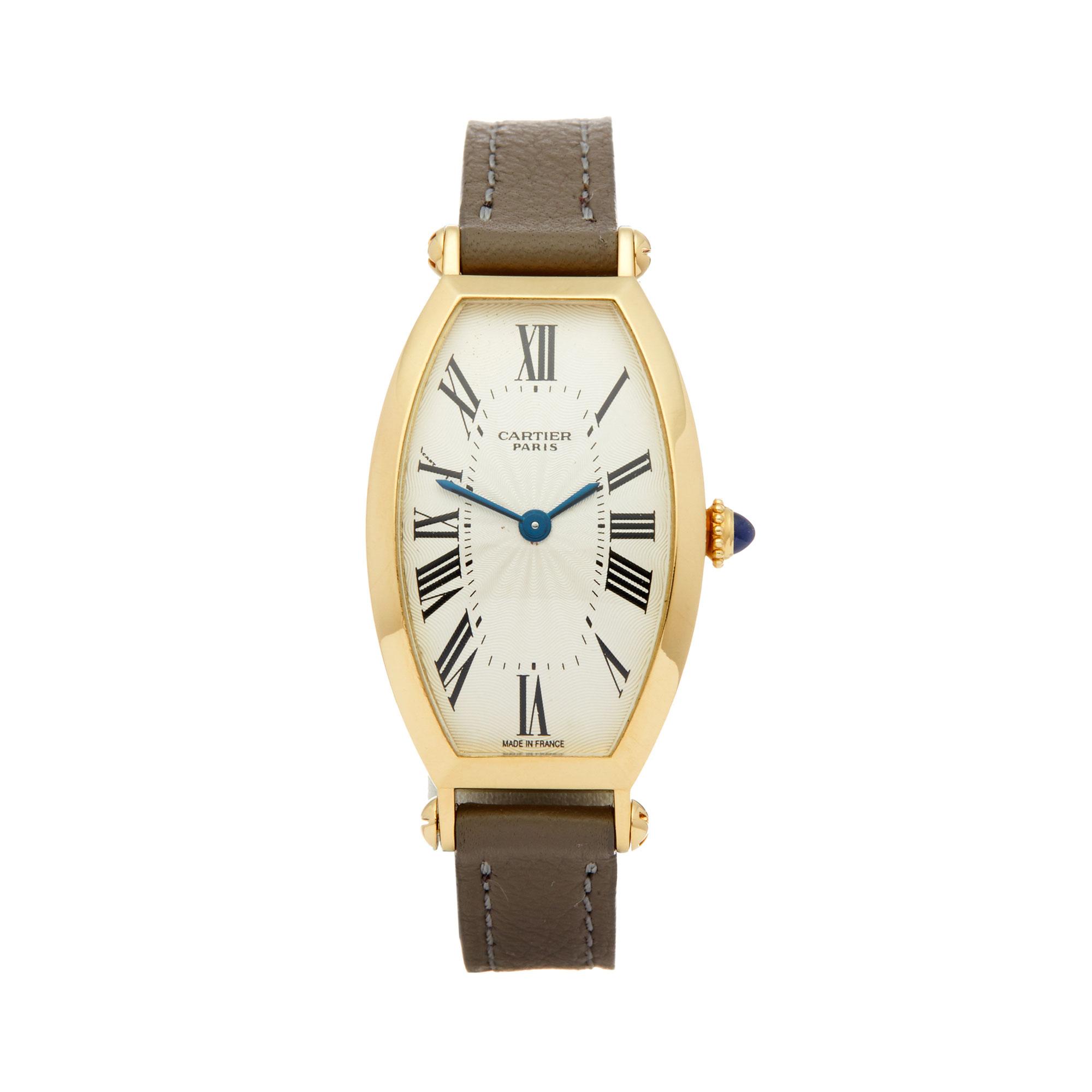 Cartier Tonneau 2451B Ladies Yellow Gold Mecanique Watch - Image 8 of 8