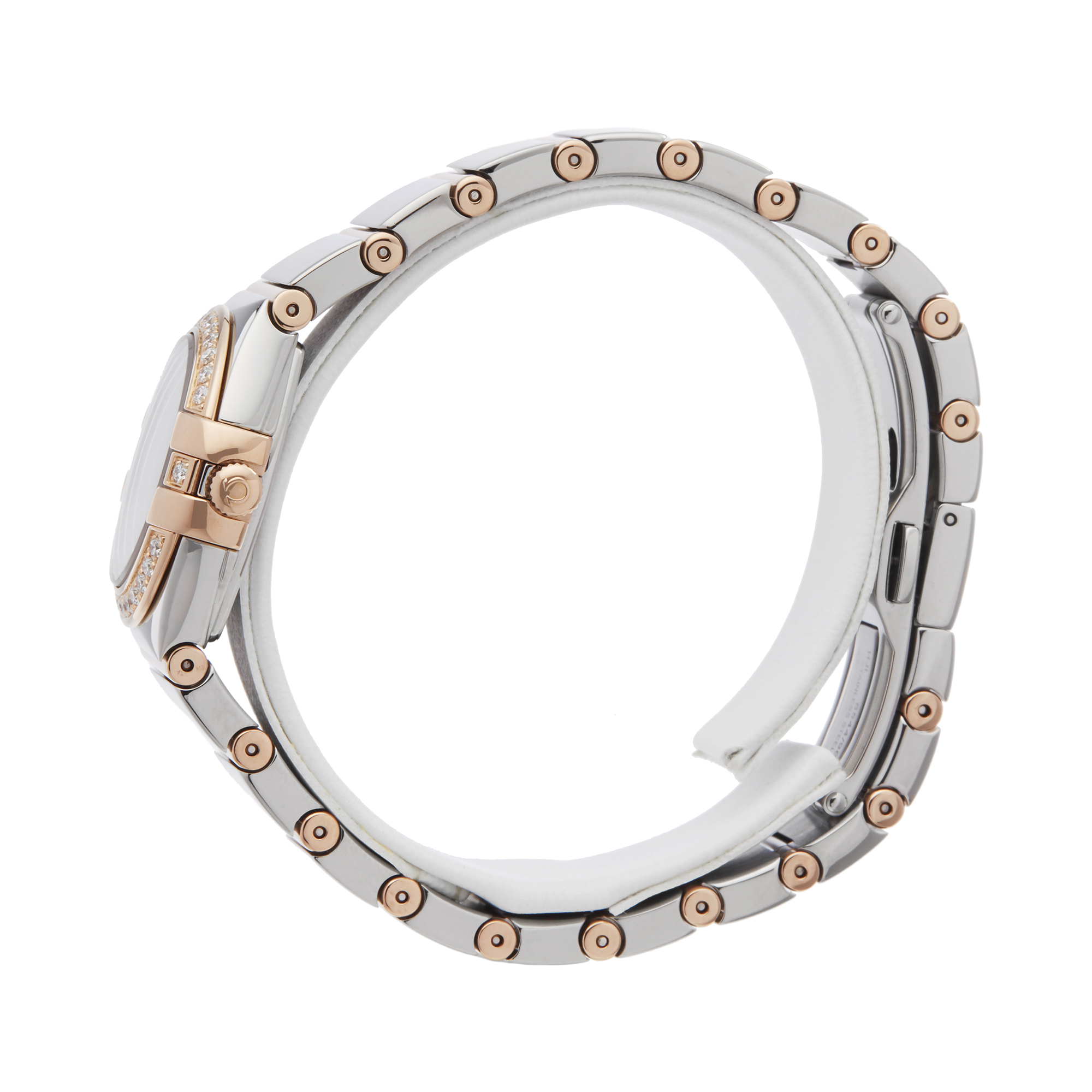 Omega Constellation 0 123.25.24.60.55.005 Ladies Stainless Steel & Rose Gold Diamond Mother Of Pearl - Image 6 of 7