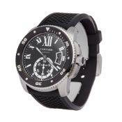 Cartier Calibre de Cartier 3729 or W7100056 Men Stainless Steel Diver Watch