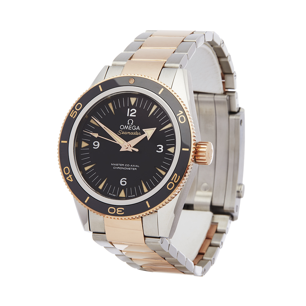 Omega Seamaster 233.20.41.21.01.001 Men Stainless Steel & Rose Gold 300M Master Co-Axial Watch