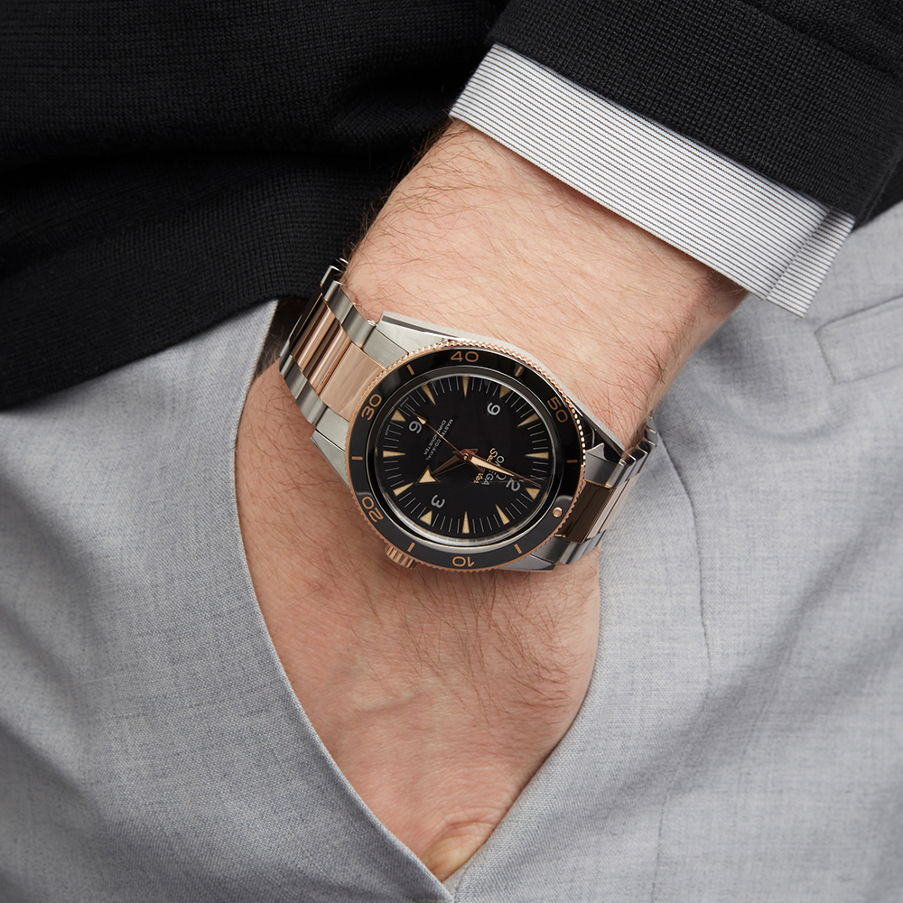 Omega Seamaster 233.20.41.21.01.001 Men Stainless Steel & Rose Gold 300M Master Co-Axial Watch - Image 2 of 8