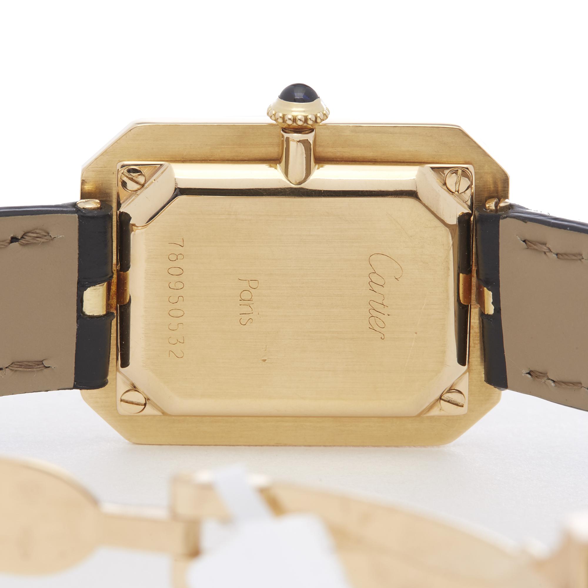 Cartier Cristallor Ladies Yellow Gold Paris Mecanique Watch - Image 4 of 8