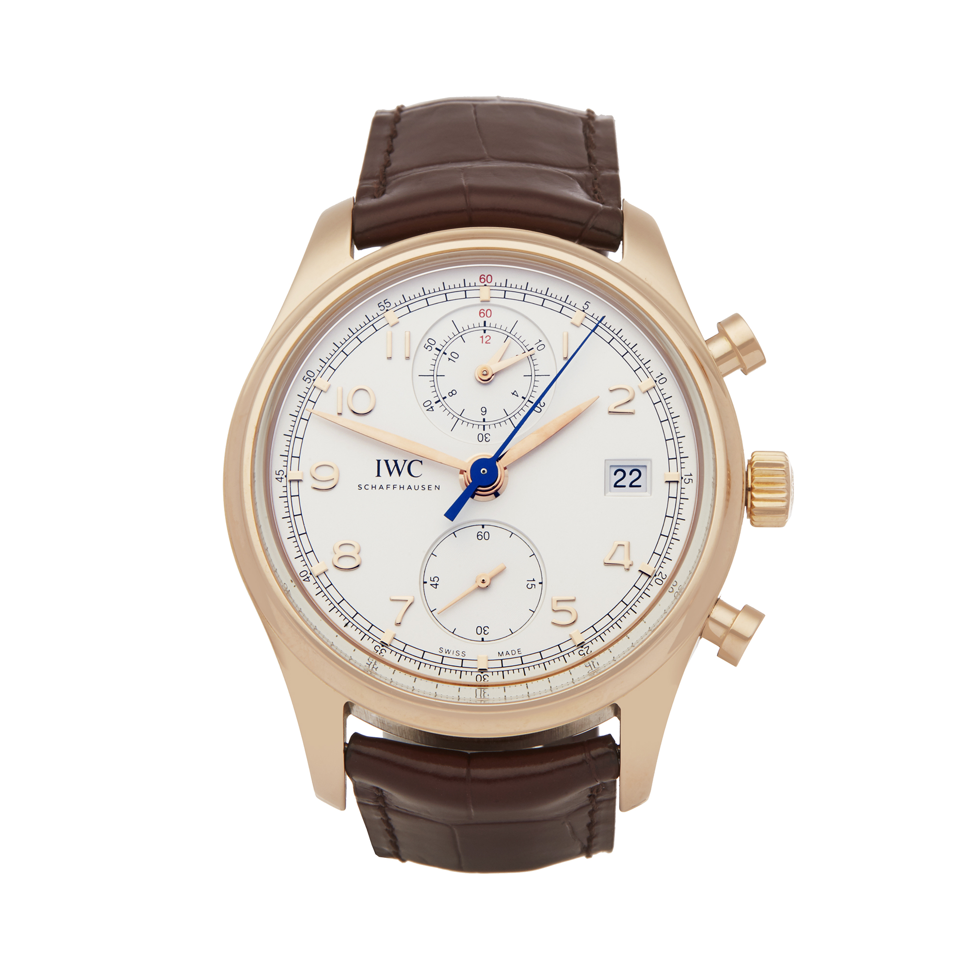 IWC Portuguese Classic IW390402 Men Rose Gold Chronograph Watch - Image 6 of 6