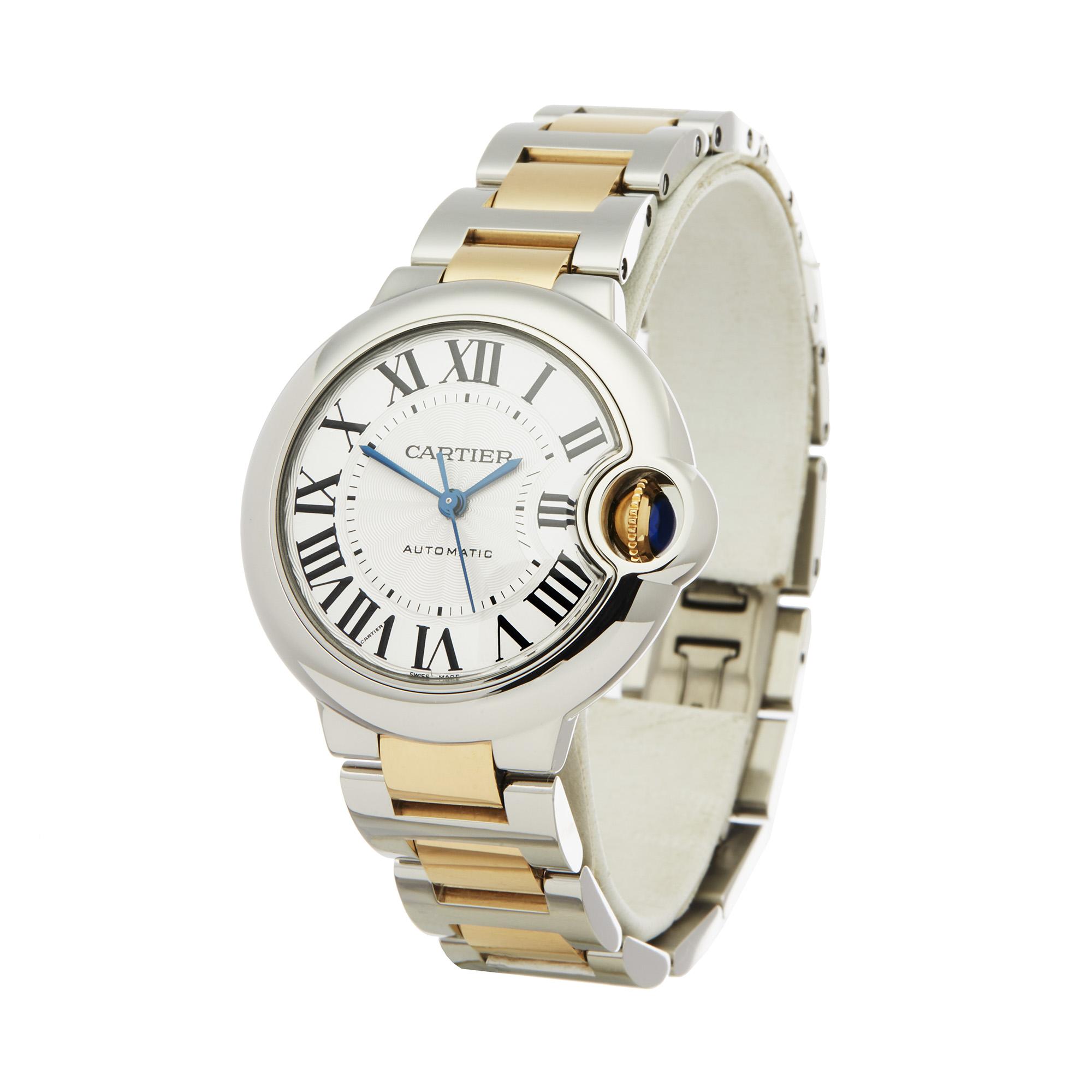 Cartier Ballon Bleu 3489 Ladies Stainless Steel & Yellow Gold Watch