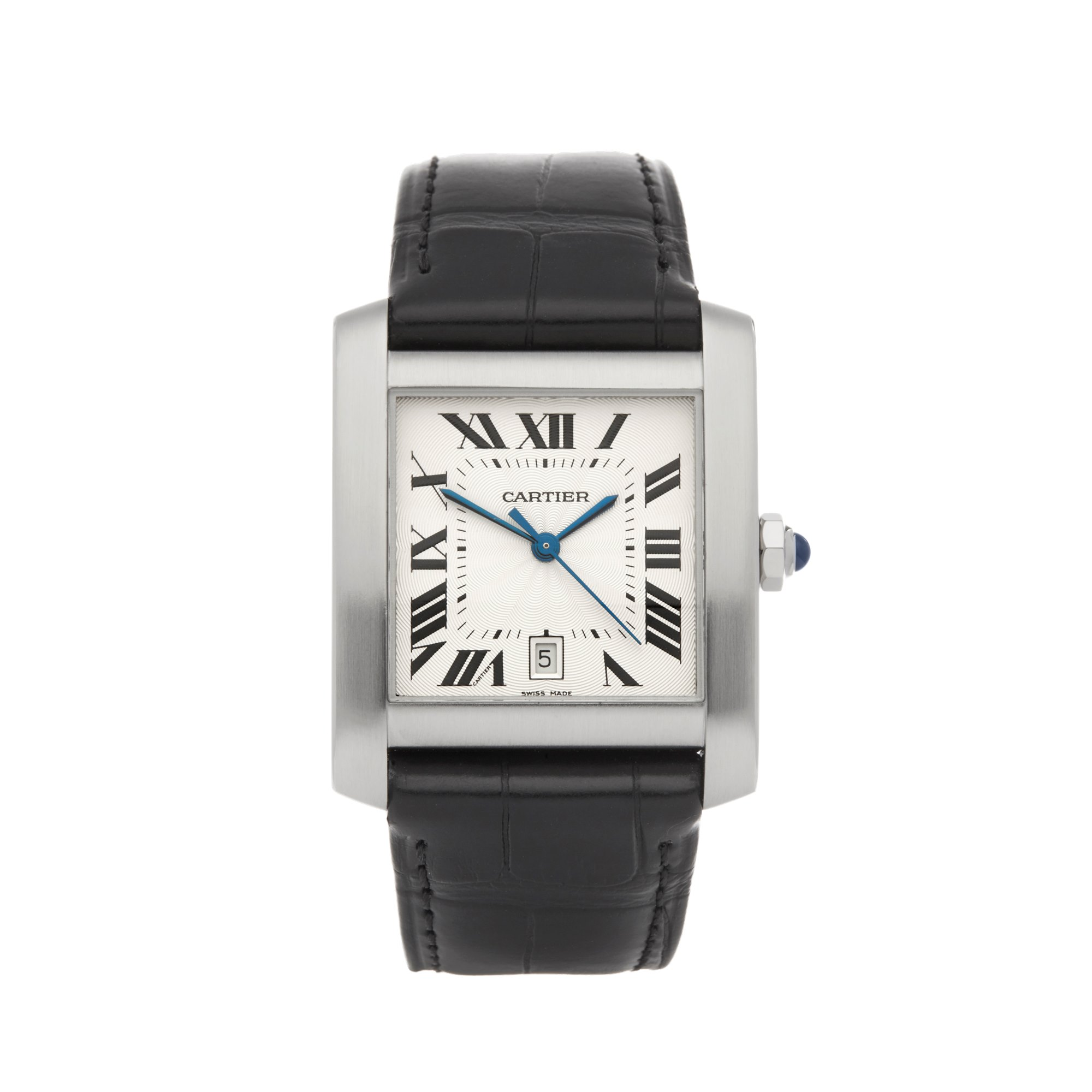 Cartier Tank Francaise 2564 or W5101755 Men Stainless Steel Watch - Image 2 of 7