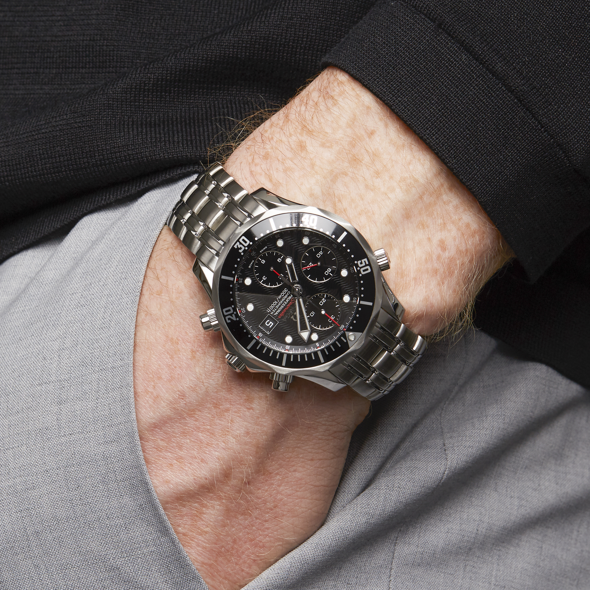 Omega Seamaster 0 213.30.42.40.01.001 Men Stainless Steel Chronograph Watch - Image 2 of 9