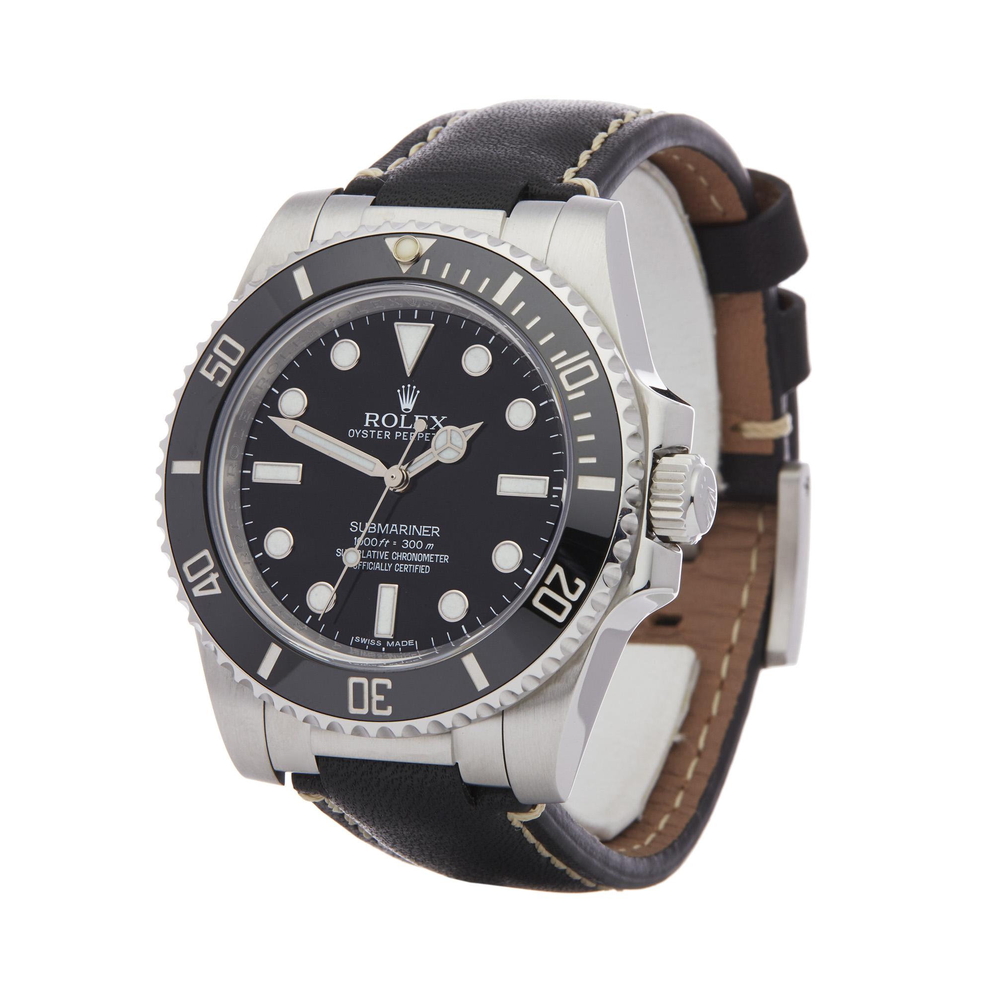 Rolex Submariner No Date 114060 Men Stainless Steel Watch