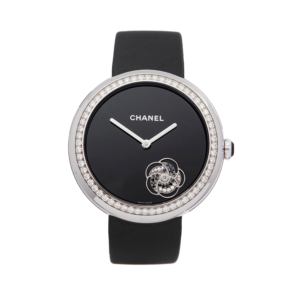 Chanel Mademoiselle H3093 Ladies White Gold Prive Diamond Watch - Image 8 of 8