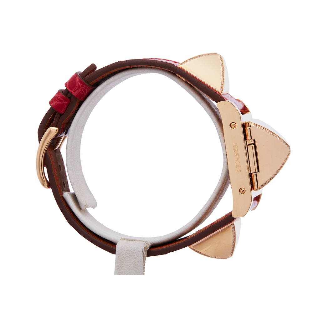 Hermes Medor W041283WW00 Ladies Rose Gold Diamond Watch - Image 5 of 8