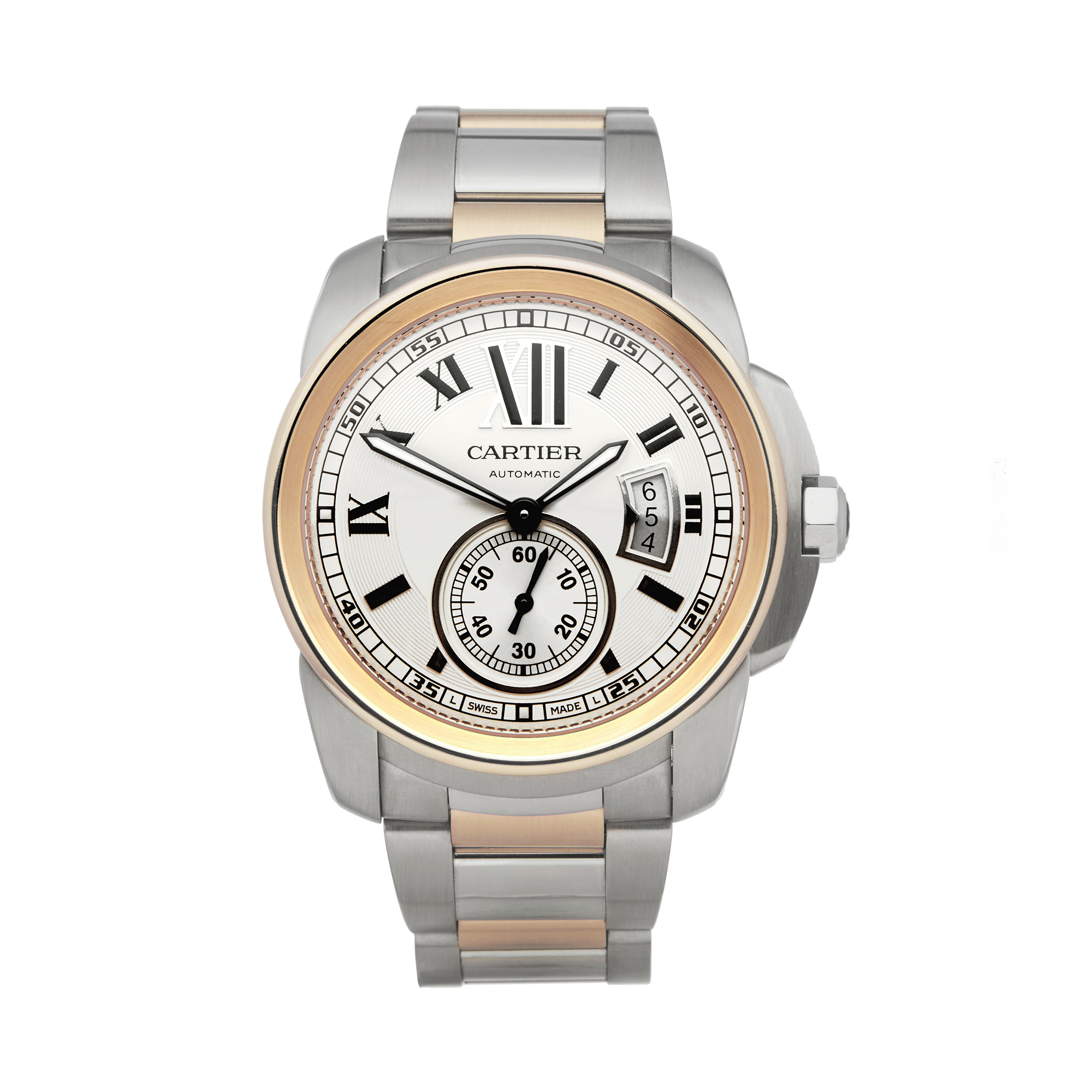 Cartier Calibre W7100036 or 3389 Men Stainless Steel & Rose Gold Watch - Image 8 of 8