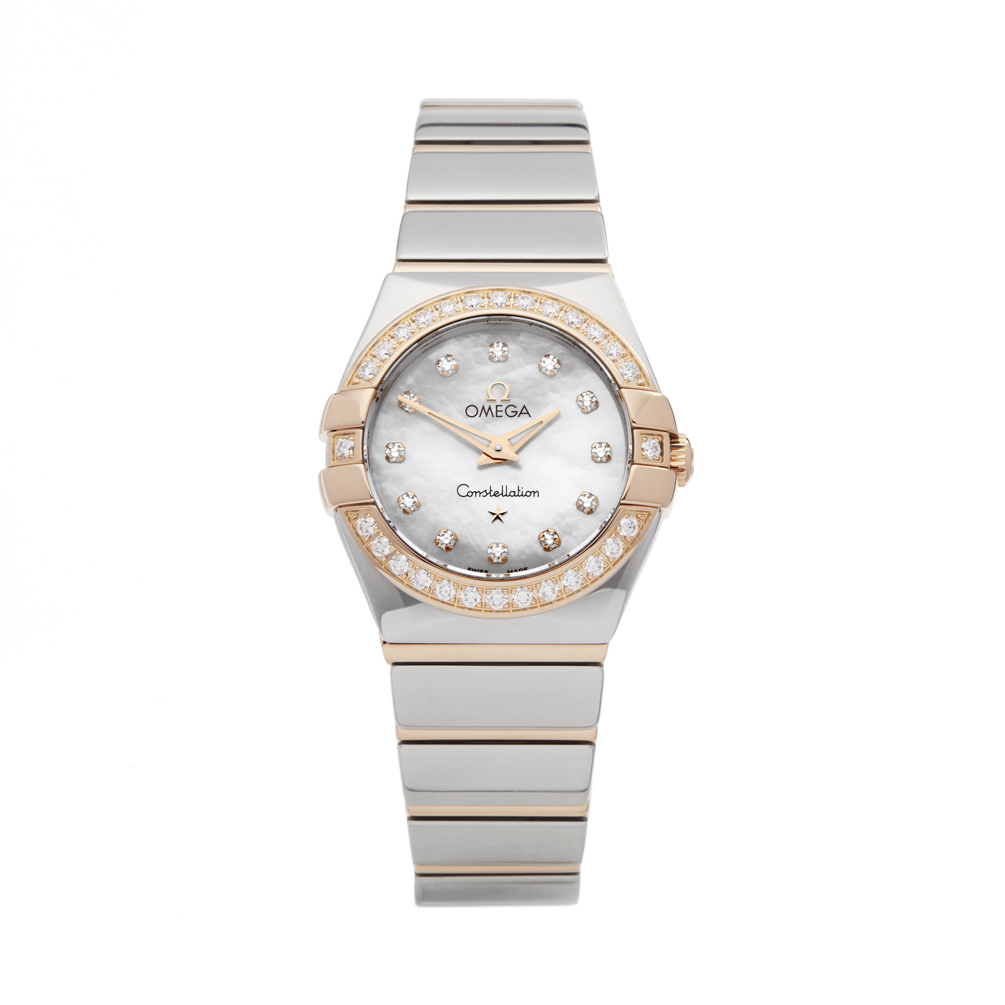 Omega Constellation 0 123.25.24.60.55.005 Ladies Stainless Steel & Rose Gold Diamond Mother Of Pearl - Image 7 of 7
