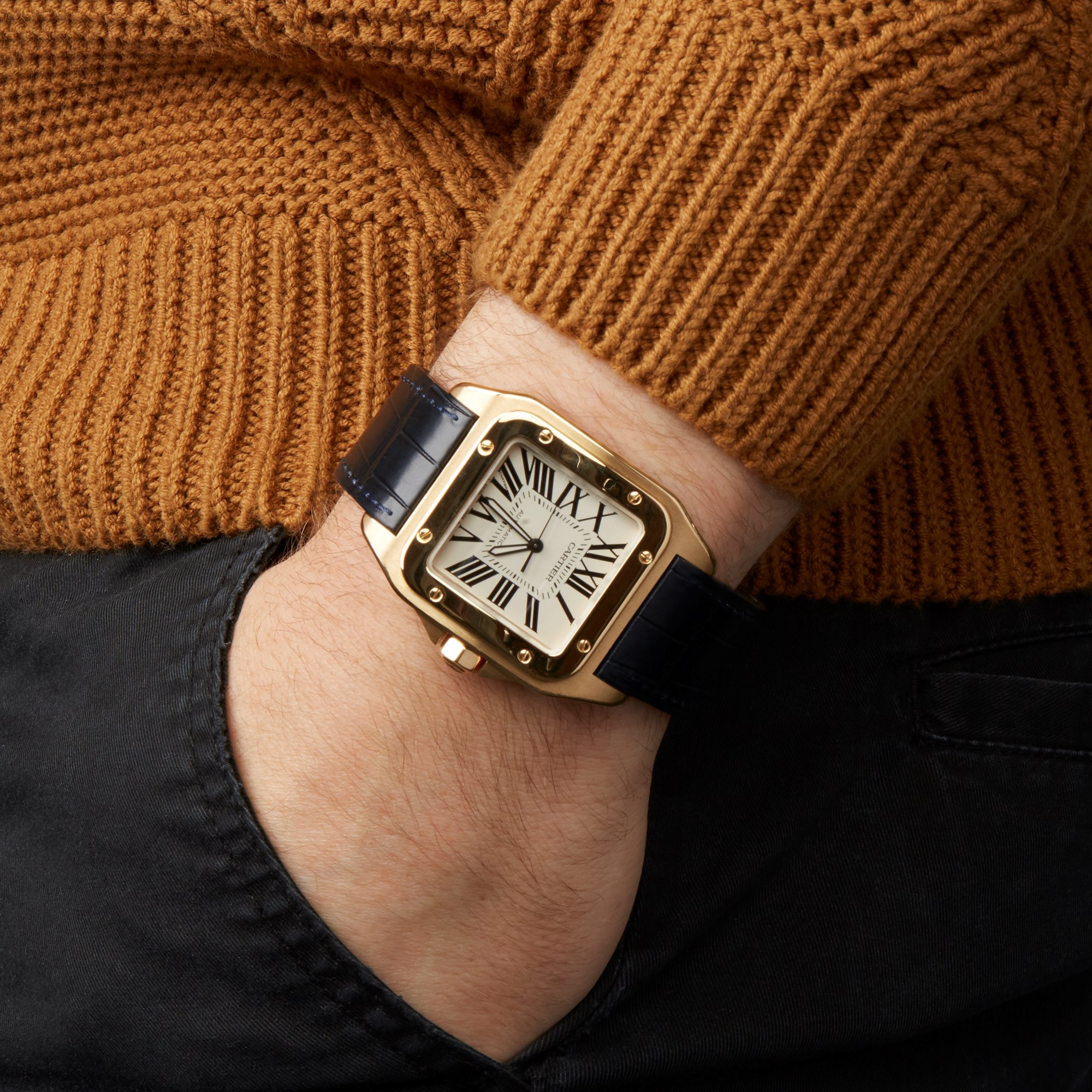 Cartier Santos 100 W20071Y1 or 2657 Men Yellow Gold Watch - Image 8 of 8