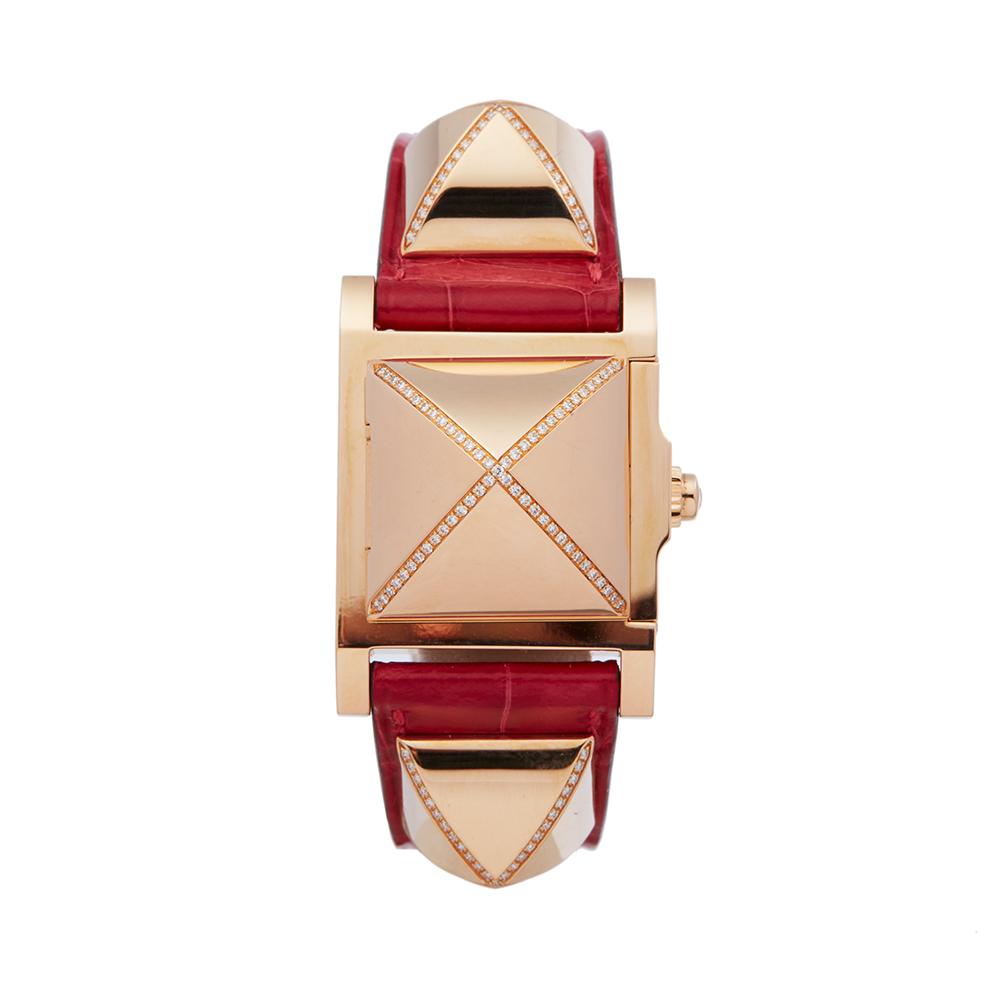 Hermes Medor W041283WW00 Ladies Rose Gold Diamond Watch - Image 7 of 8