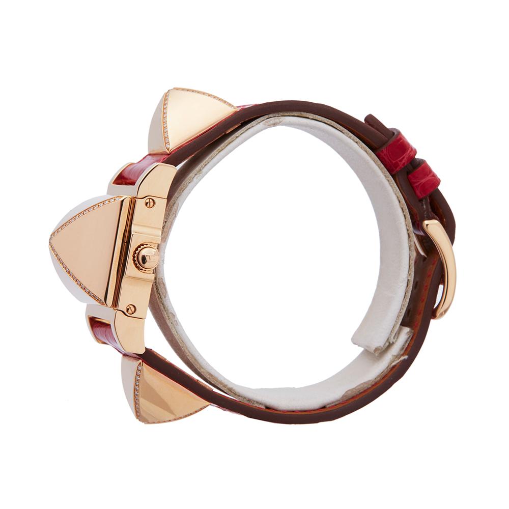 Hermes Medor W041283WW00 Ladies Rose Gold Diamond Watch - Image 6 of 8