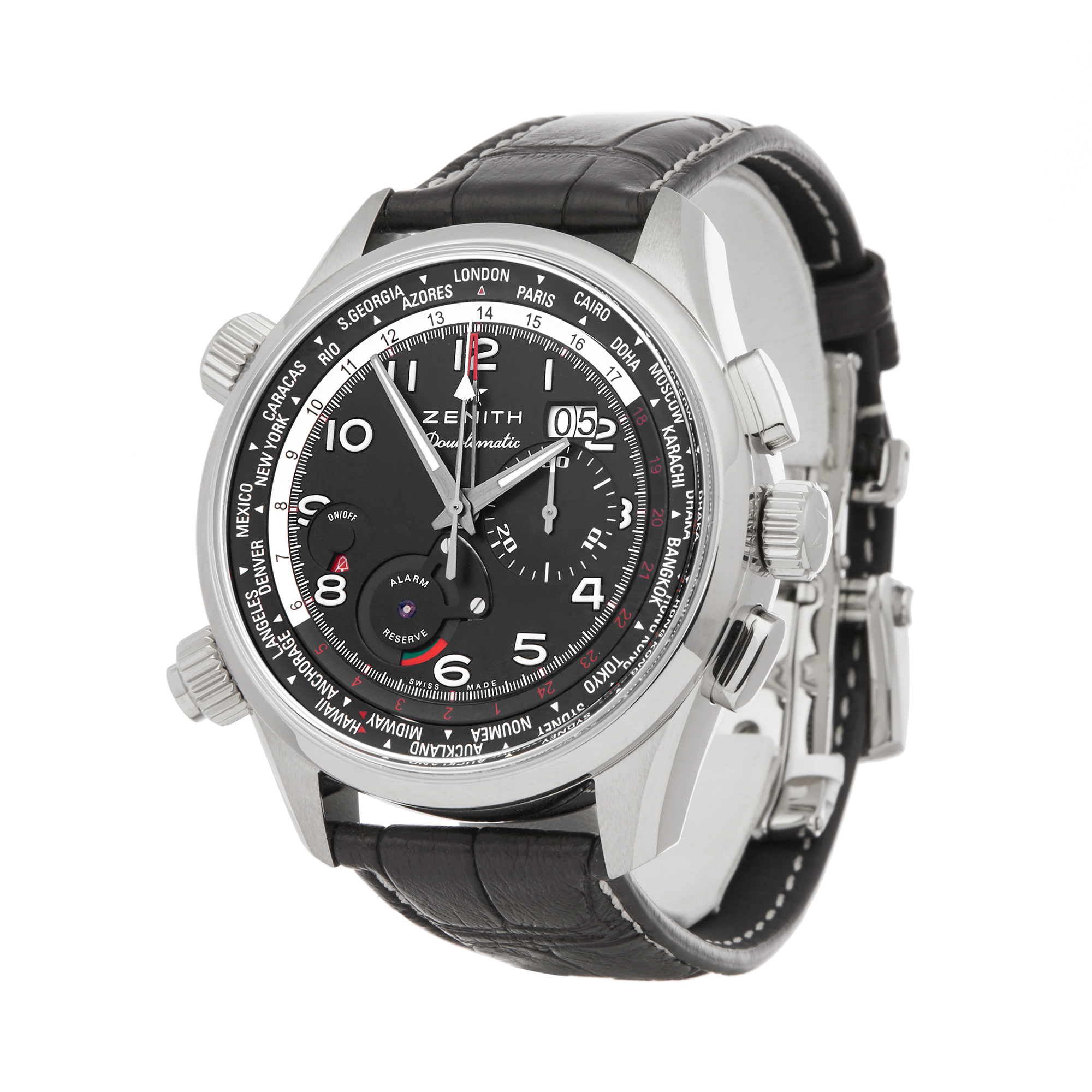Zenith Doublematic 0 03.2400.4046/21.C721 Men Stainless Steel Chronograph Watch