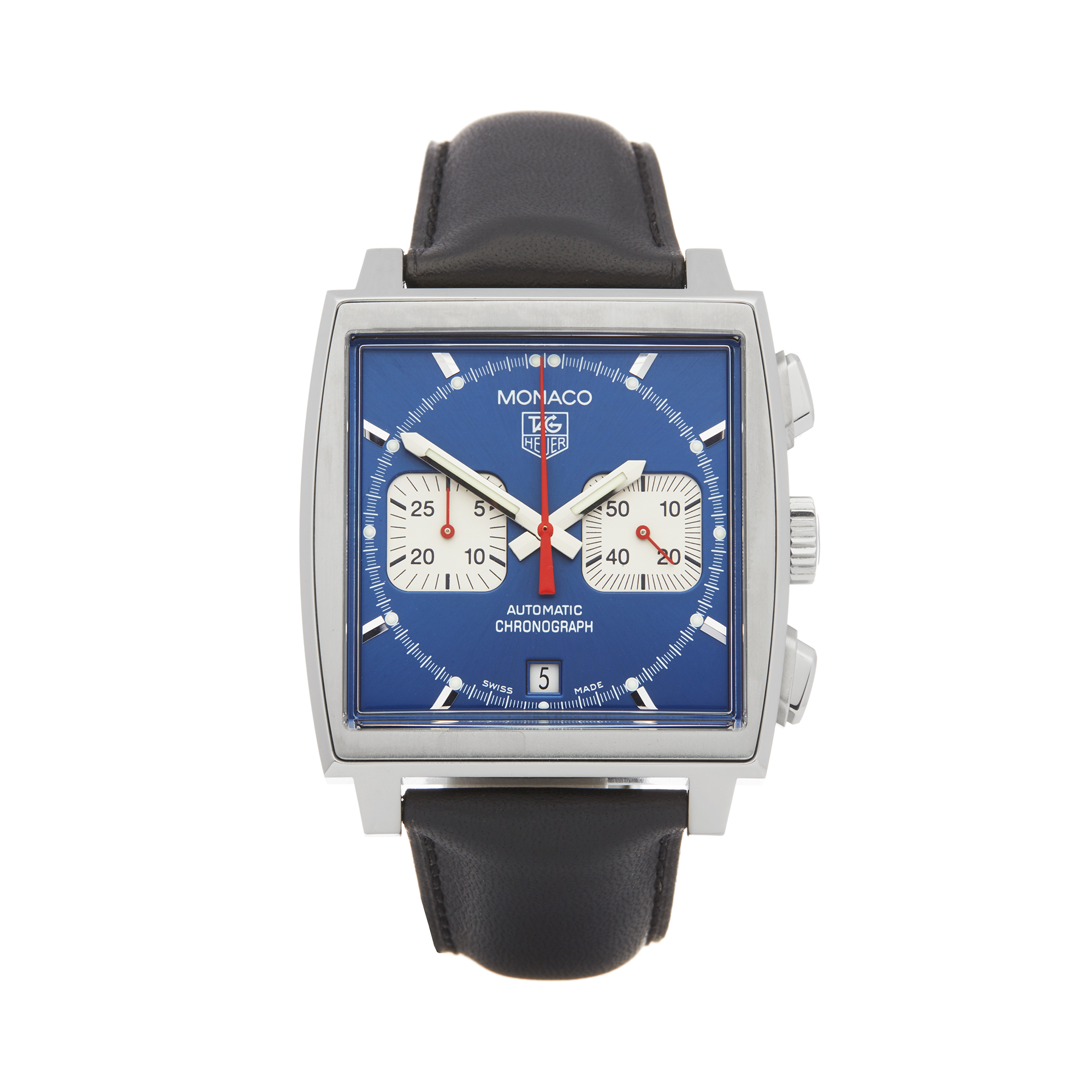 Tag Heuer Monaco CW2113-0 Men Stainless Steel Chronograph Watch - Image 8 of 8