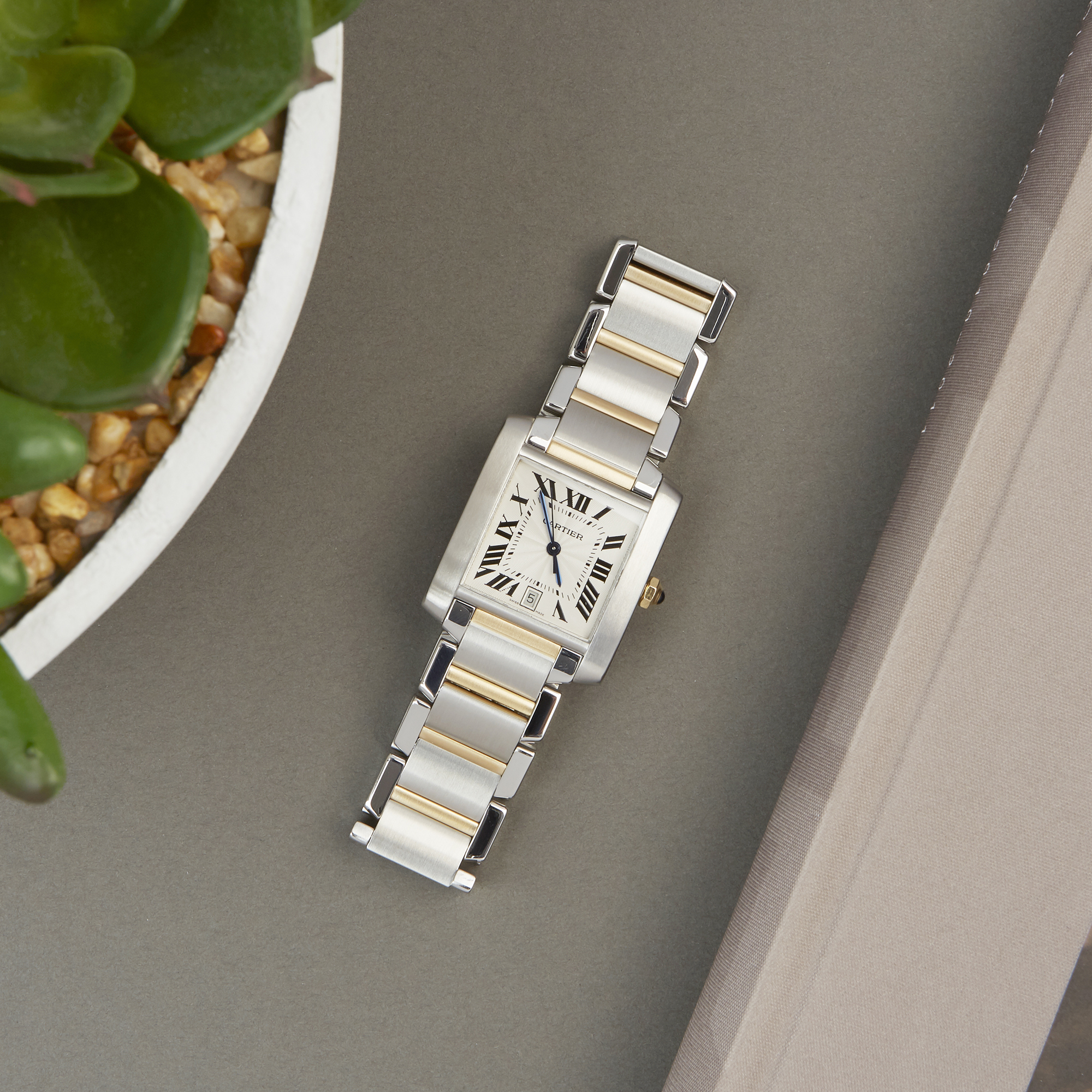 Cartier Tank Francaise 2302 Unisex Stainless Steel Watch - Image 2 of 8