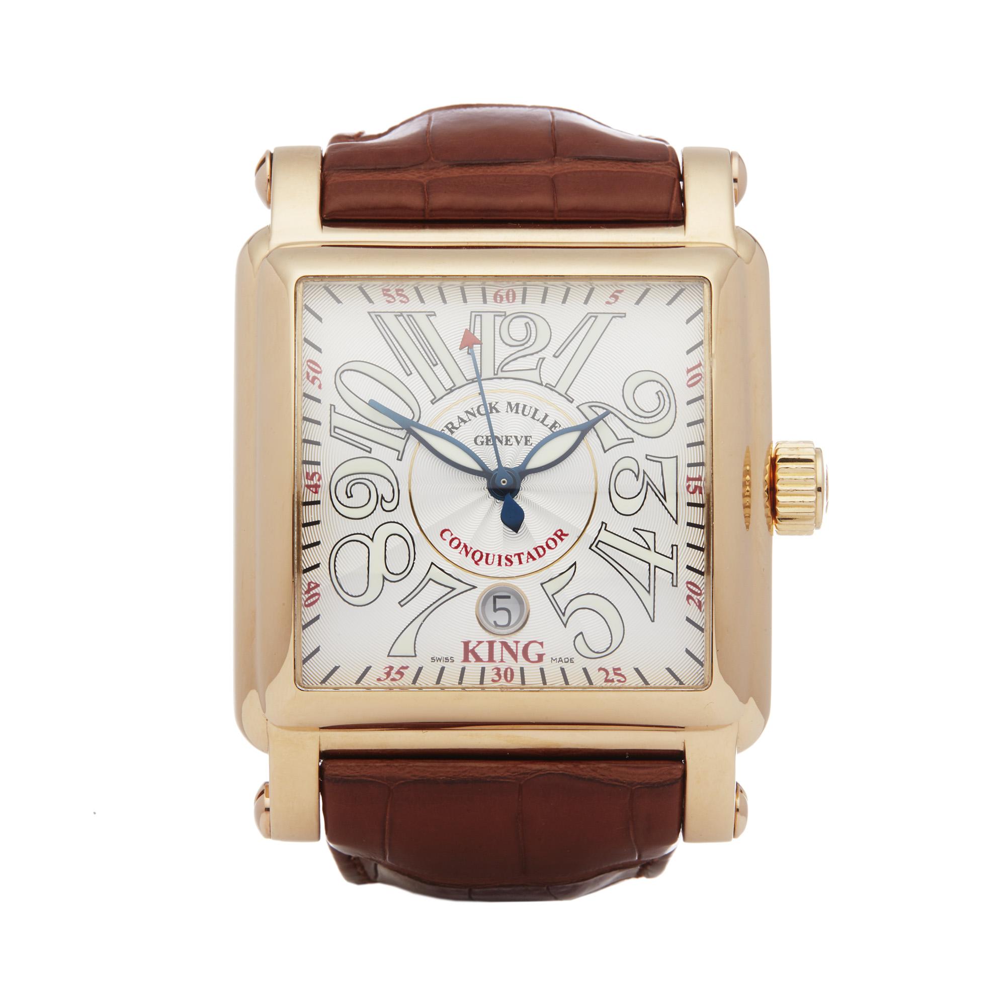 Franck Muller King Conquistador Cortez 10000K Men Rose Gold Watch - Image 8 of 8