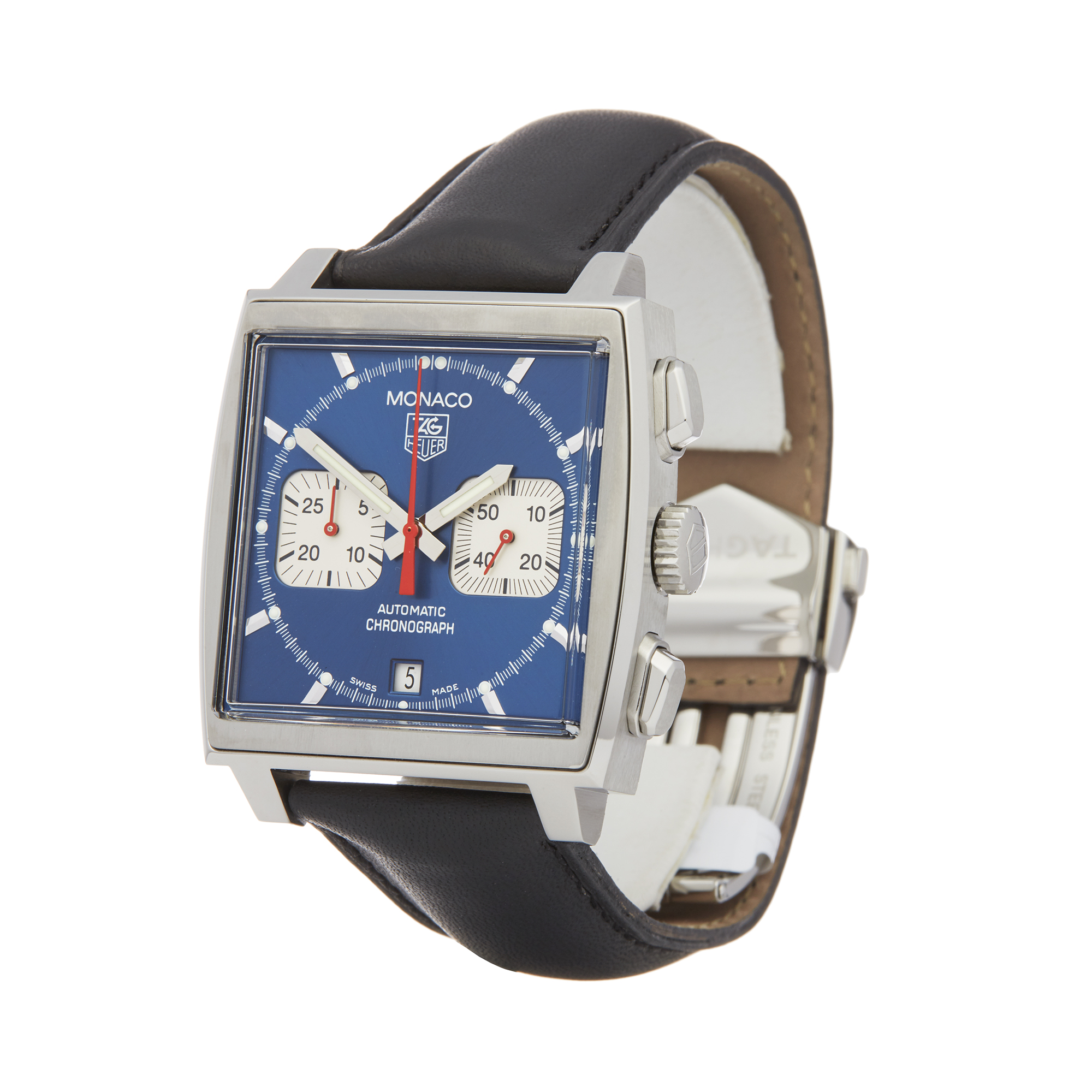 Tag Heuer Monaco CW2113-0 Men Stainless Steel Chronograph Watch