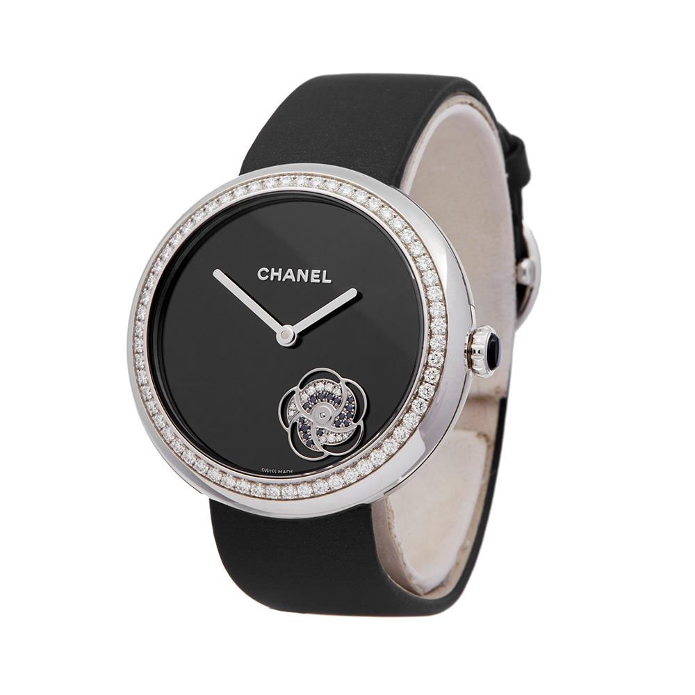 Chanel Mademoiselle H3093 Ladies White Gold Prive Diamond Watch