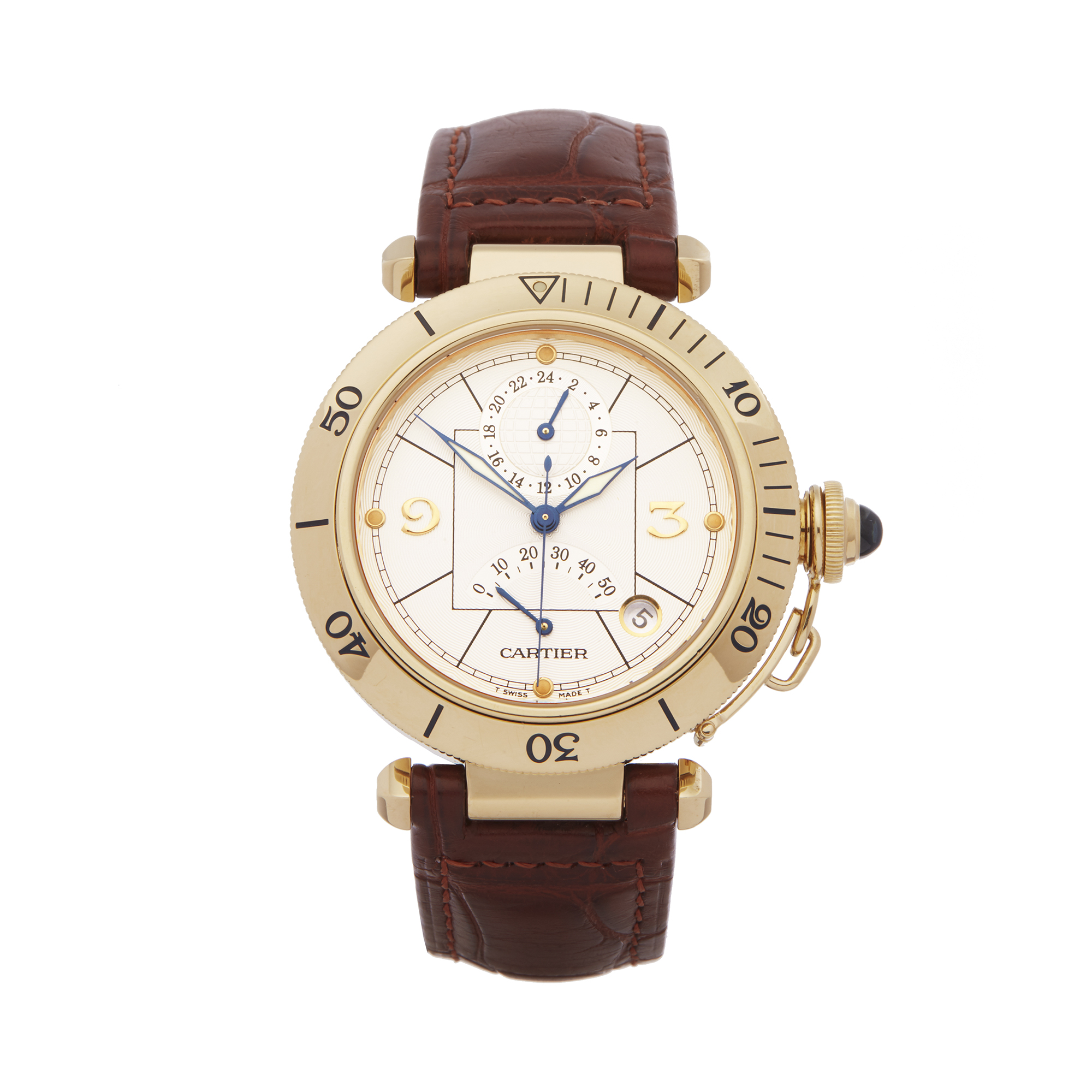 Cartier Pasha Seatimer W3014456 or 2395 Men Yellow Gold Watch - Image 9 of 9