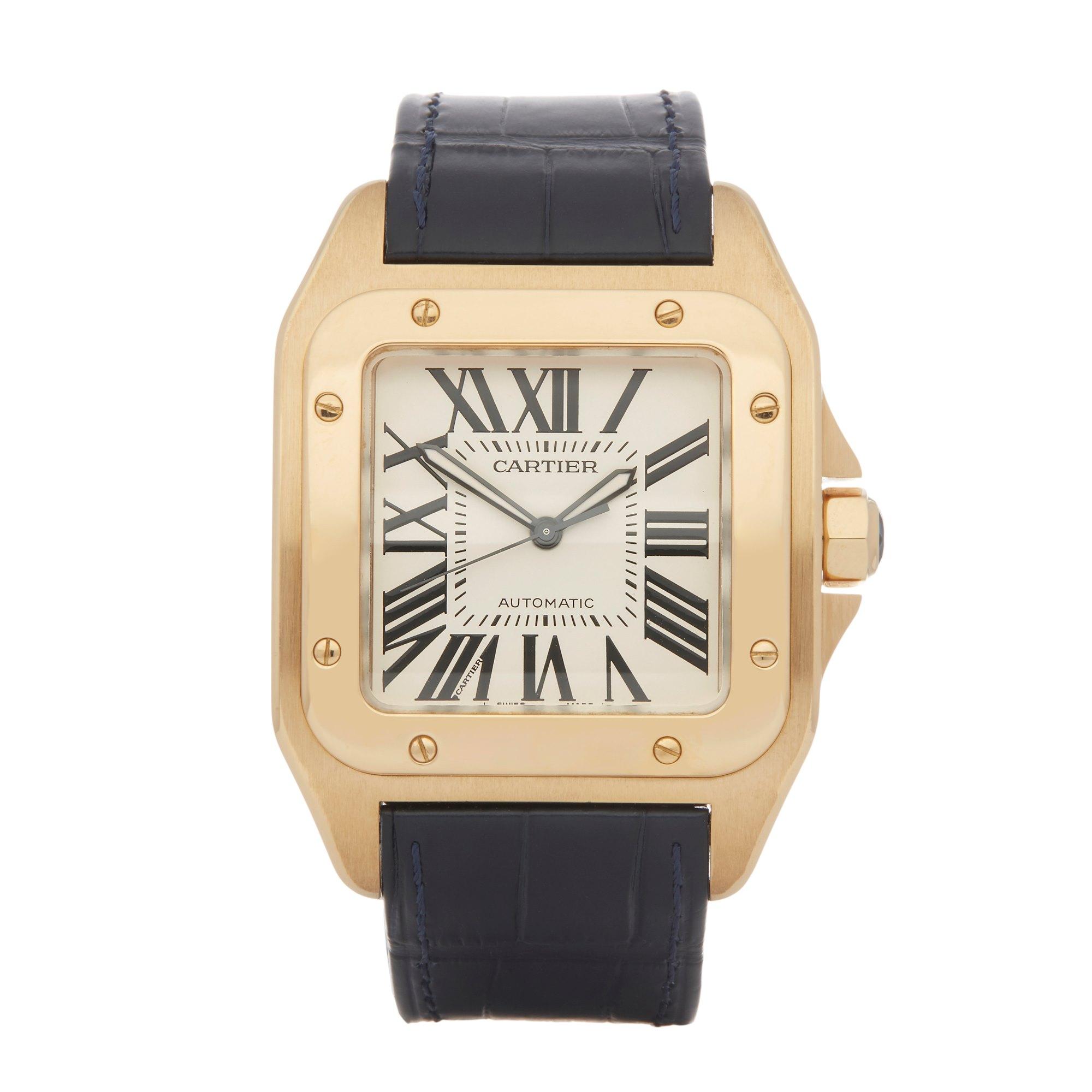 Cartier Santos 100 W20071Y1 or 2657 Men Yellow Gold Watch - Image 2 of 8