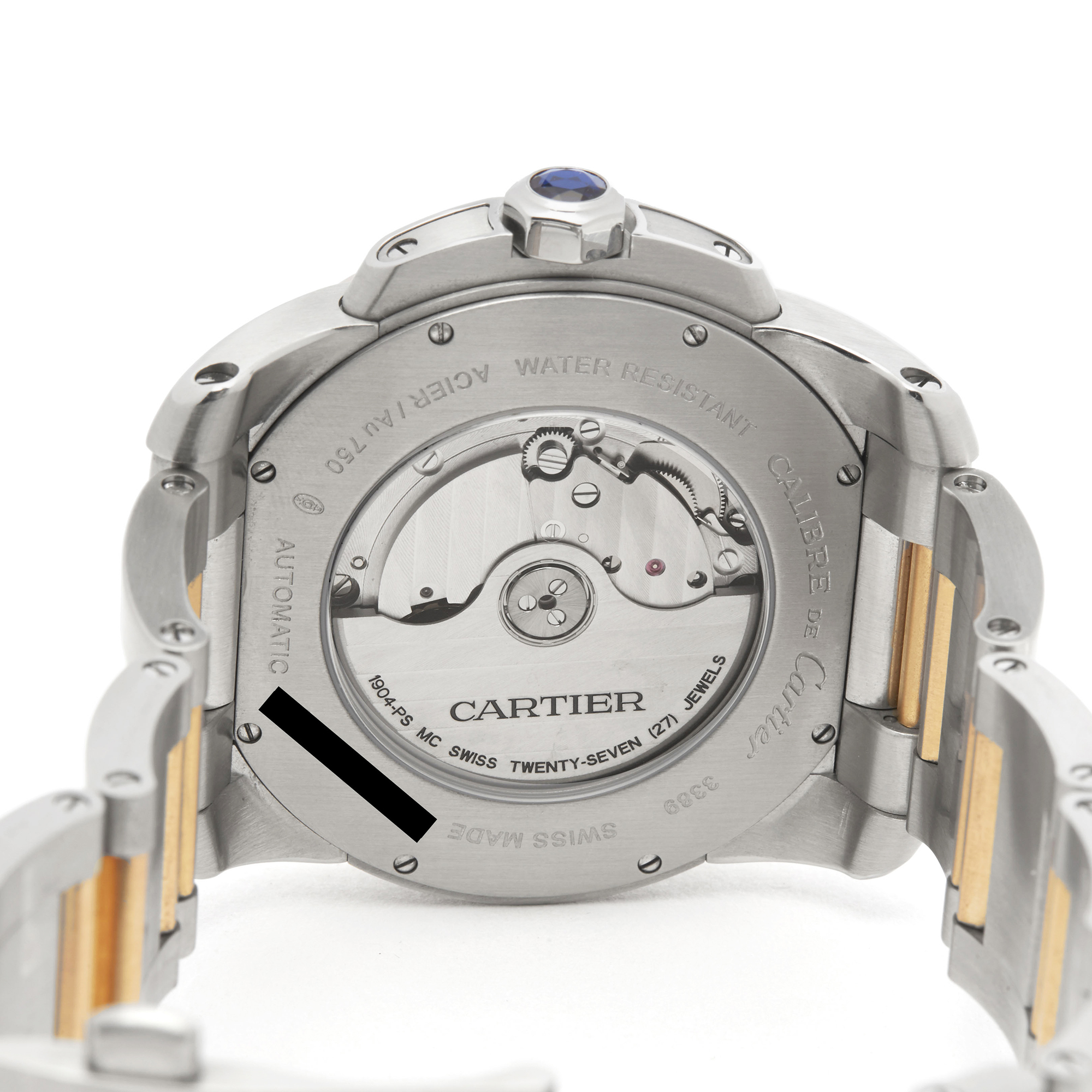 Cartier Calibre W7100036 or 3389 Men Stainless Steel & Rose Gold Watch - Image 4 of 8