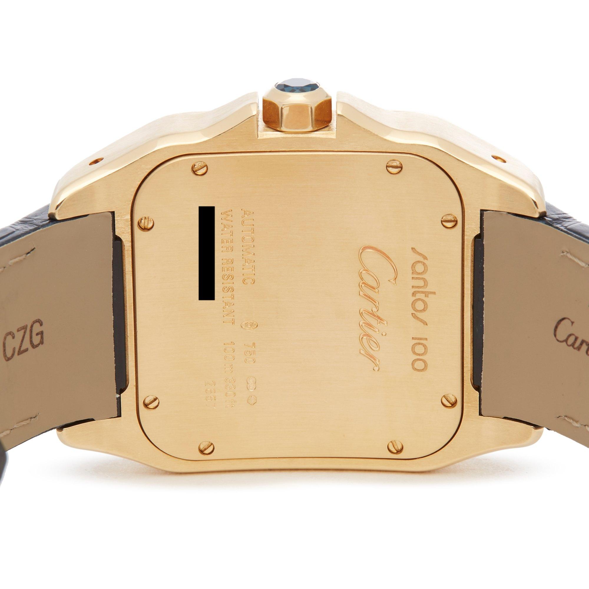Cartier Santos 100 W20071Y1 or 2657 Men Yellow Gold Watch - Image 6 of 8