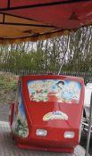 Fiberglass Fairground Toy Roller Coaster Seat Garden Seat